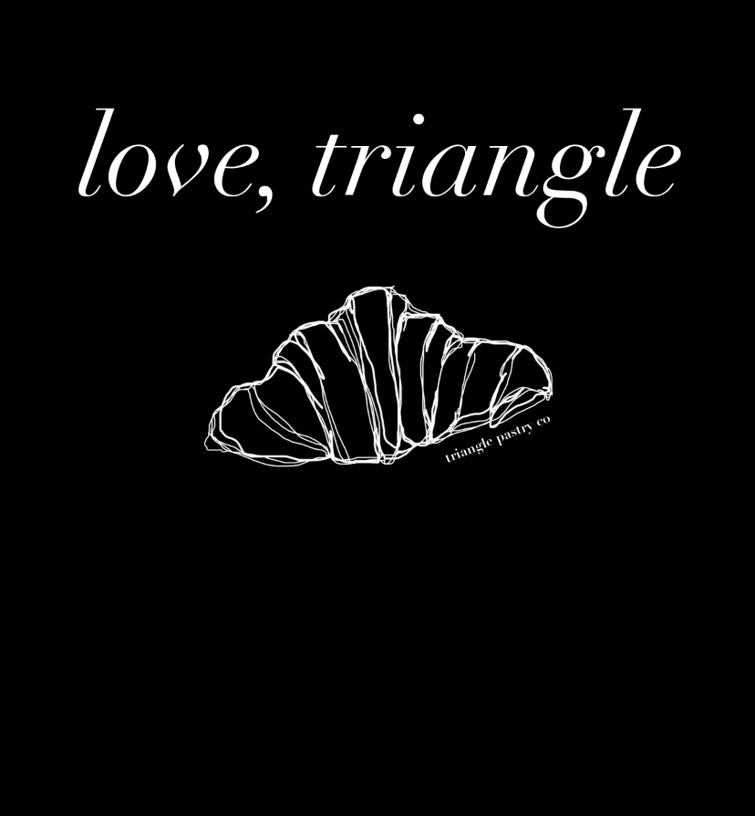 """""""Love Triangle"""" T-shirt graphic for Triangle Pastry Co."""