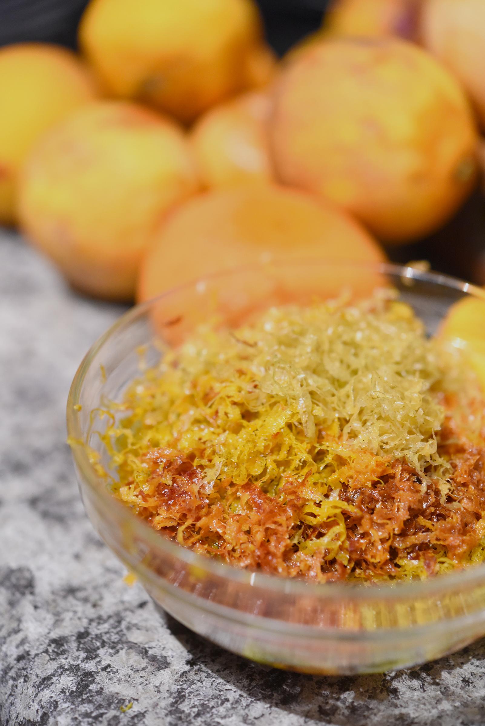 Fresh citrus zest.