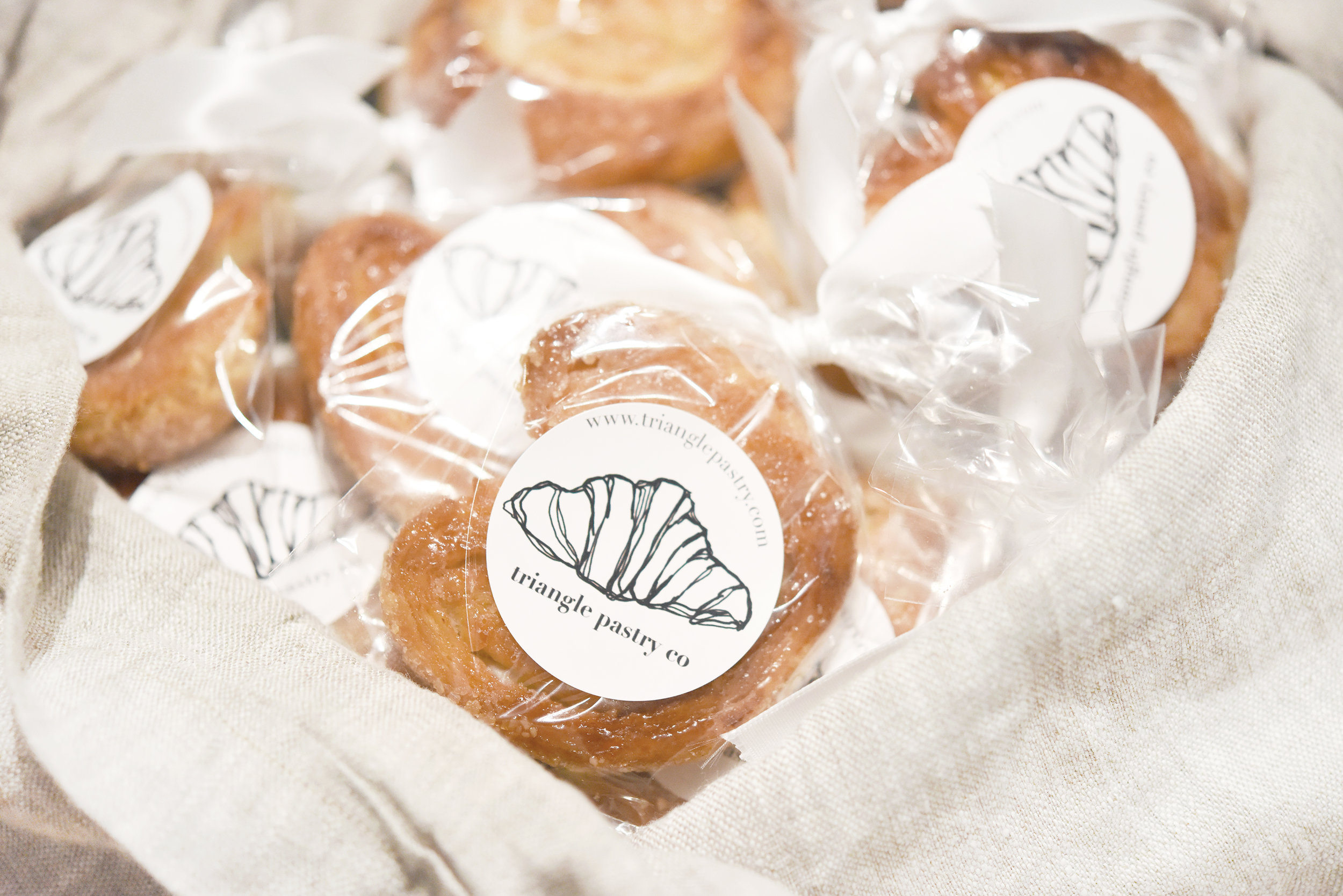 Our individually packaged palmiers were given out as VIP party favors.