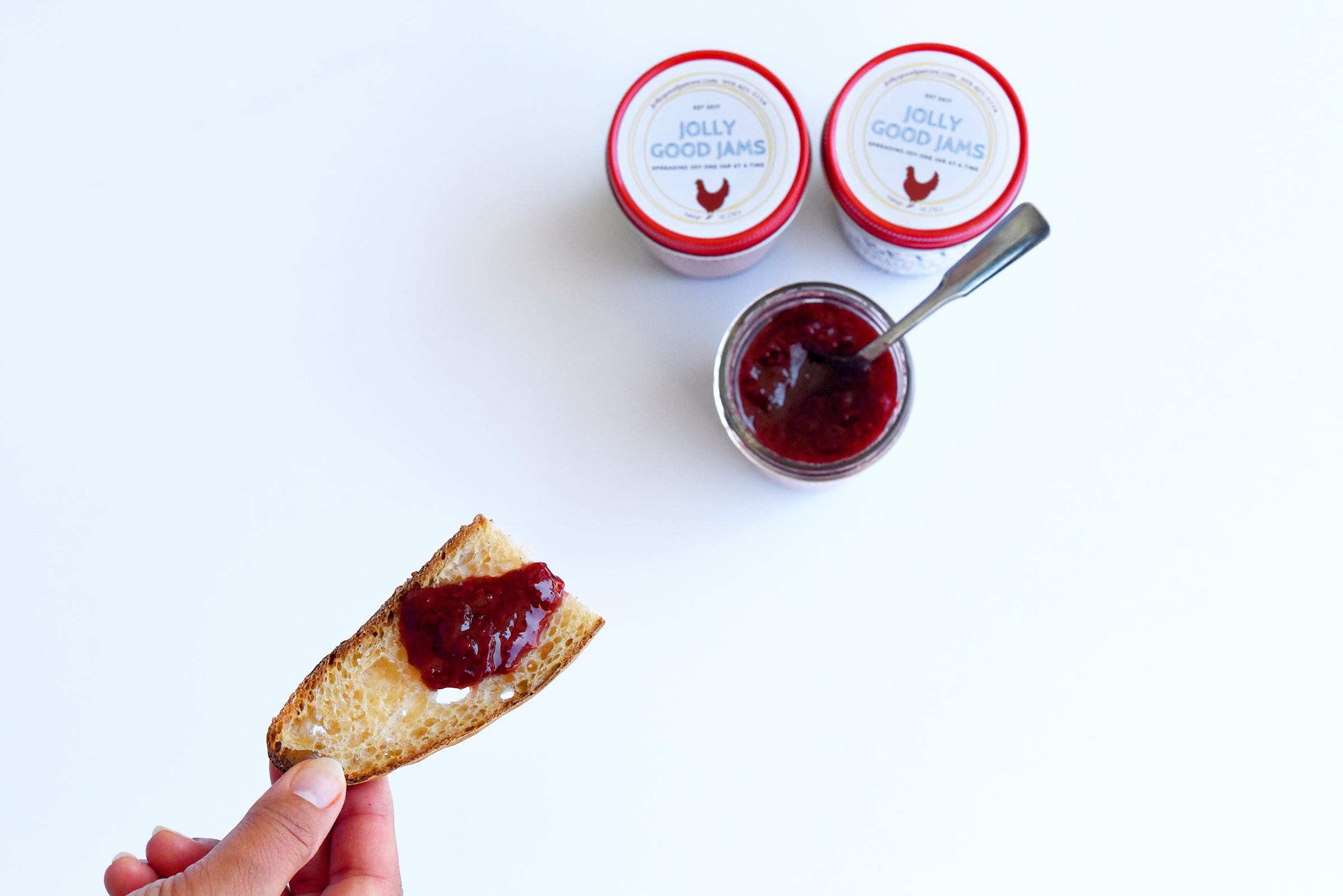 """This jam is called """"Sally,"""" a delightful combination of strawberries and basil."""