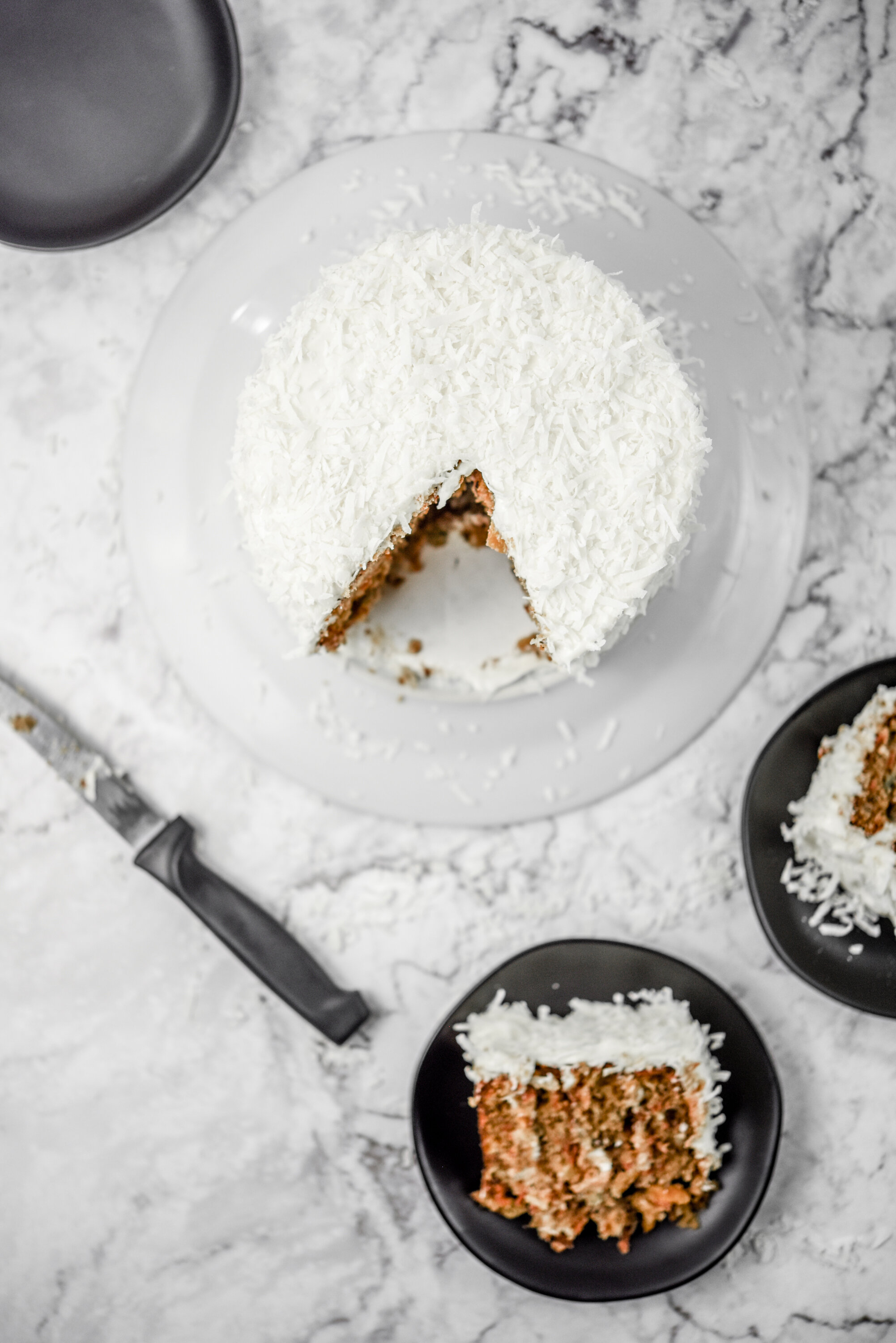 Carrot Cake that became my go to Kitchen Sink Cake. Food photography, food styling, and prop styling, by Megan Crist.