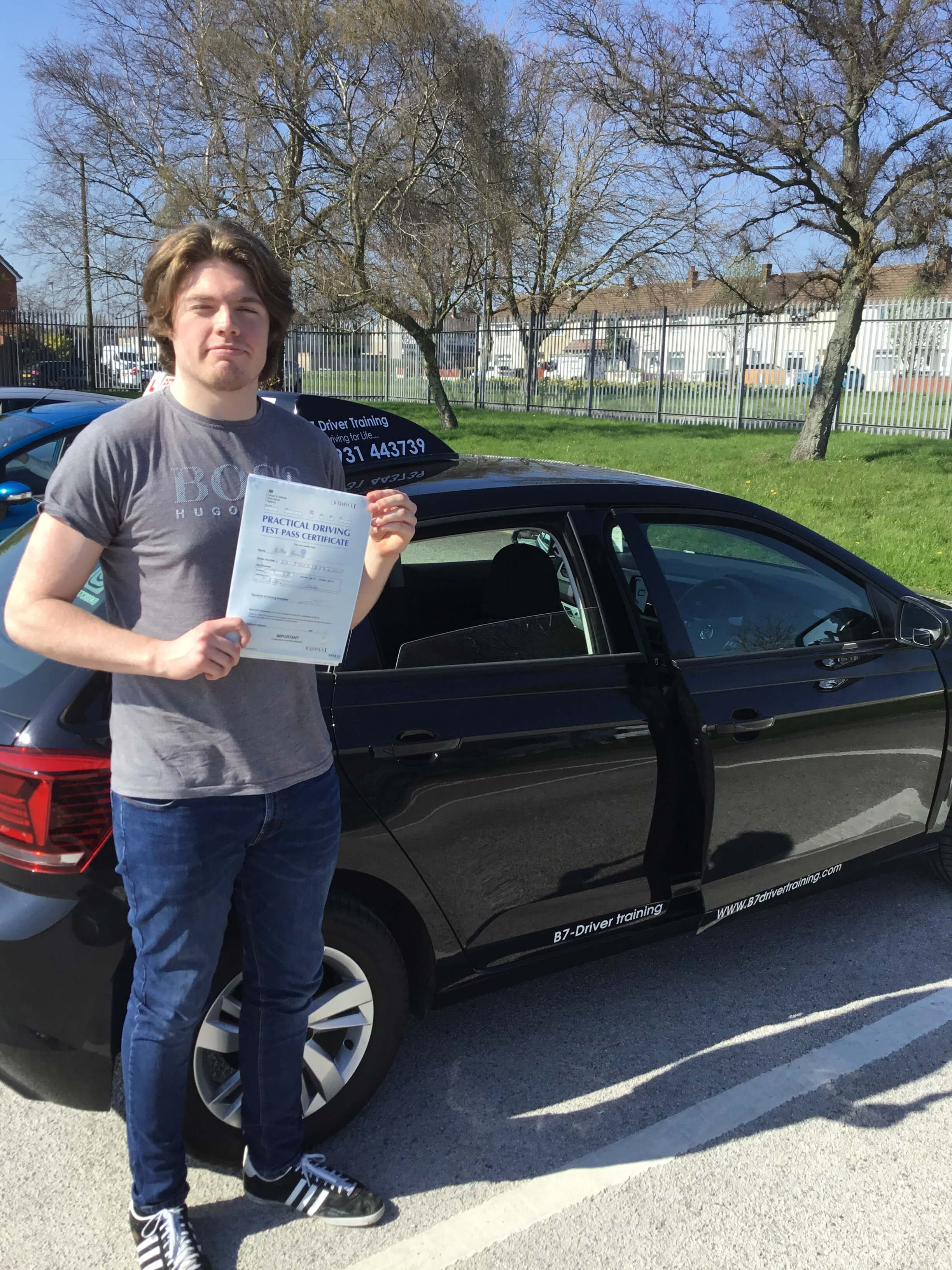 Matt passed his driving test 1st time @ Widnes driving test centre
