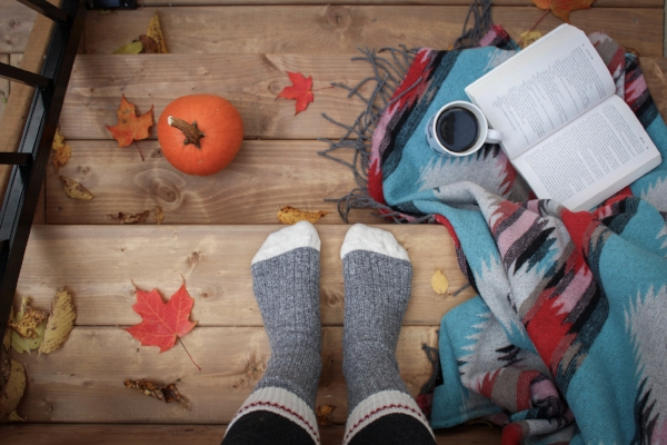 Pumpkins, Yoga and cosy socks how lovely !
