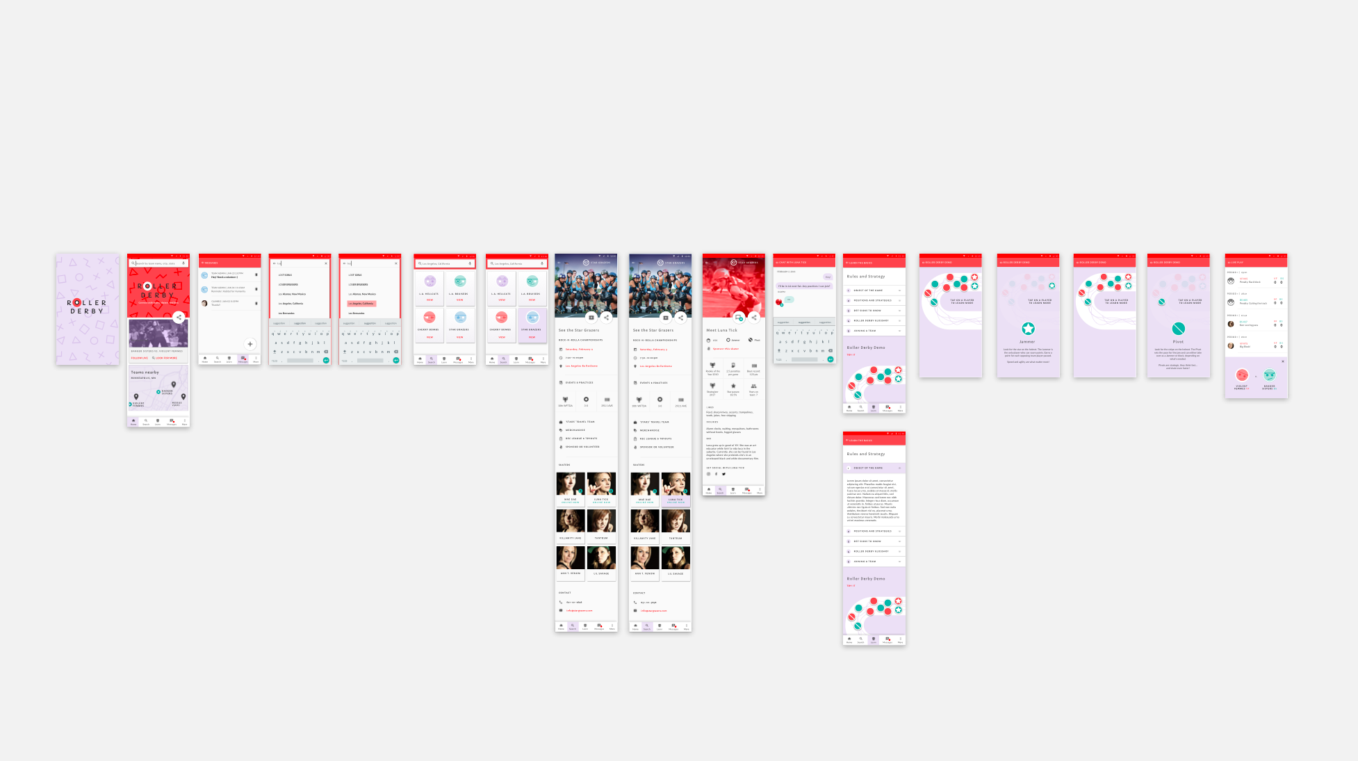 I developed a set of wireframes, with features that address the key problems that were mentioned during the interview process.