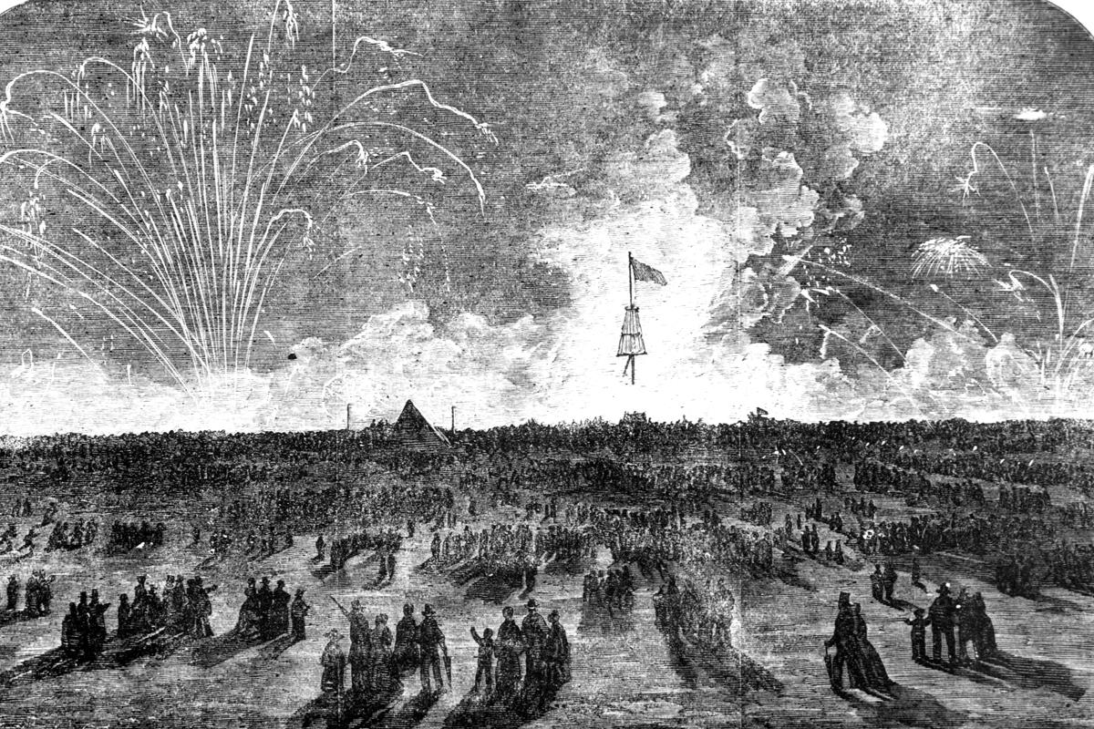 Fireworks on the Heath. 1856.