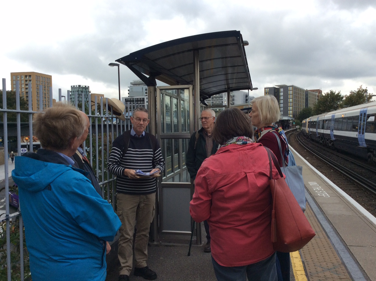John revealing the history of Lewisham station, Lewisham and … Cynthia Paine the connection was most surprising!