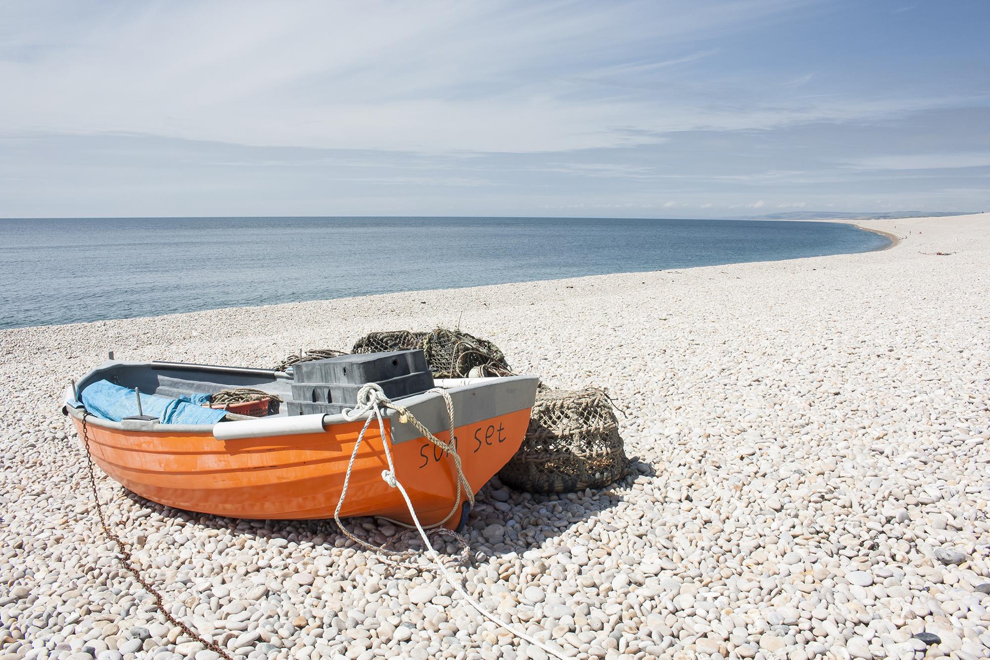 chesil beach orange boat.jpg