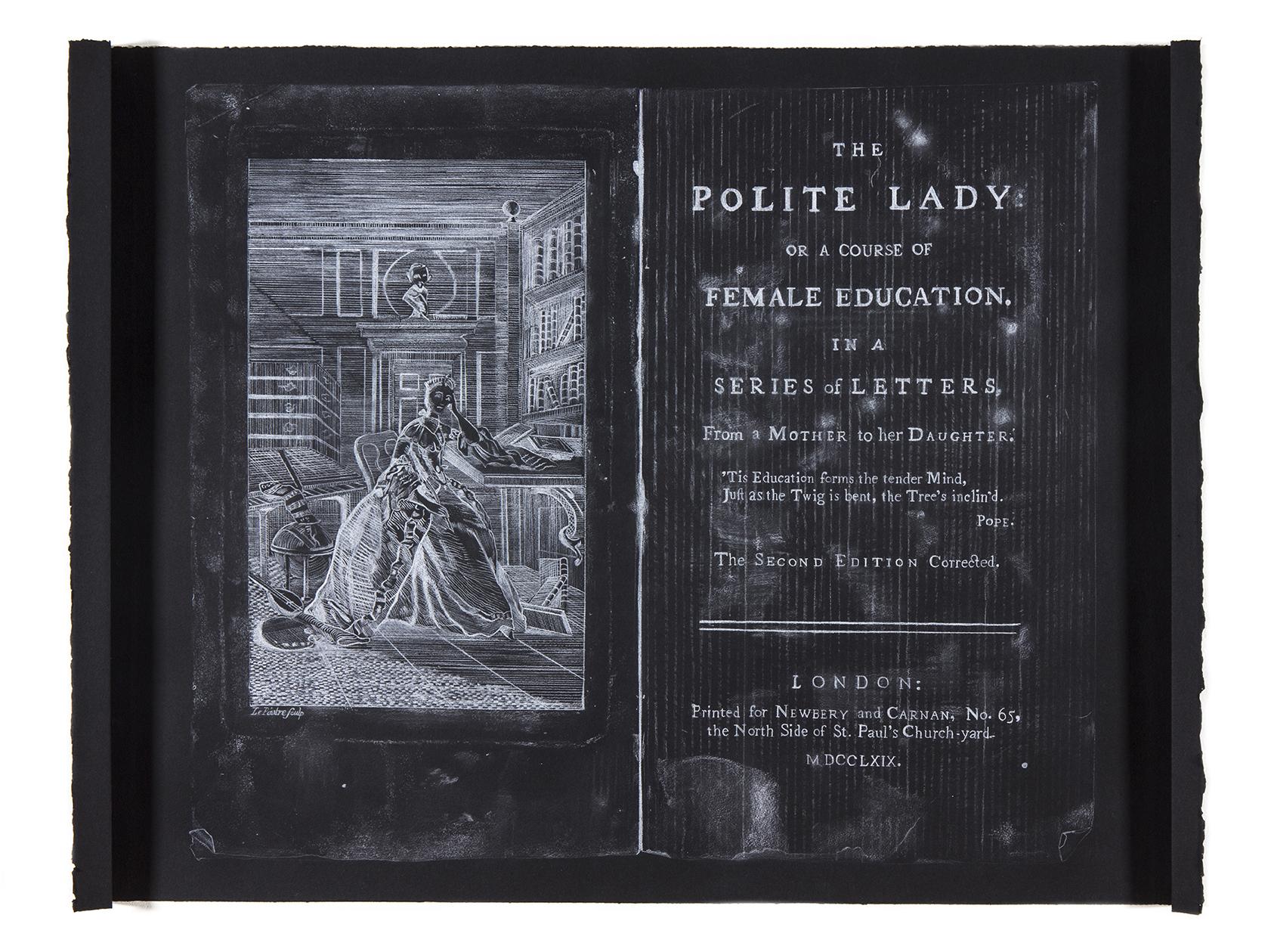 A Polite Drawing , 112 x 76cm (Conté 620 on Velin Arches Noir, 250gsm)