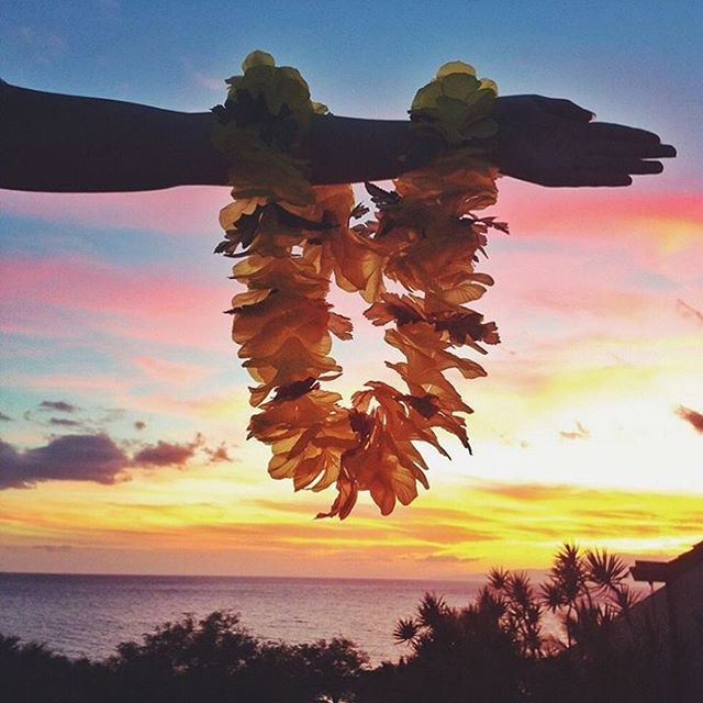 Congrats! You've made it more than half way through another work week & tomorrow is summer Fri-YAY. The LEI-dies of Lokē Rosé wish you  a beautiful weekend ahead filled with stunning sunsets, fresh tropical flower lei & lots of our Provence produced, Hawaiian inspired rosé! 🍷🌺🌅