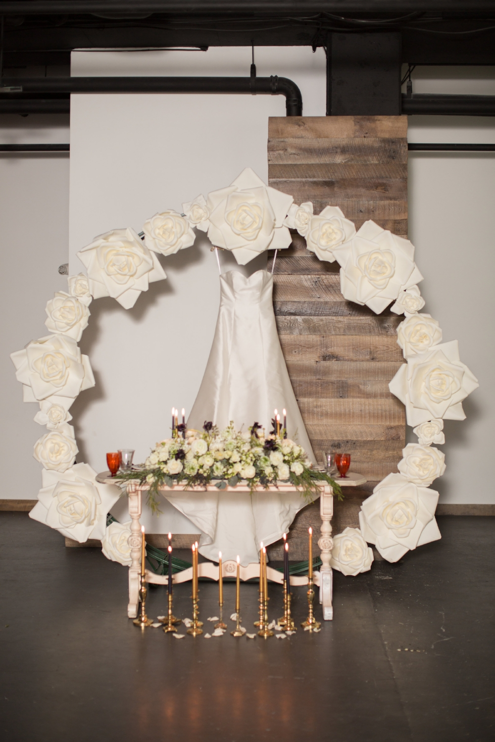 Custom Arch with Silk Flowers -