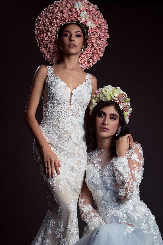 Custom floral headwear -