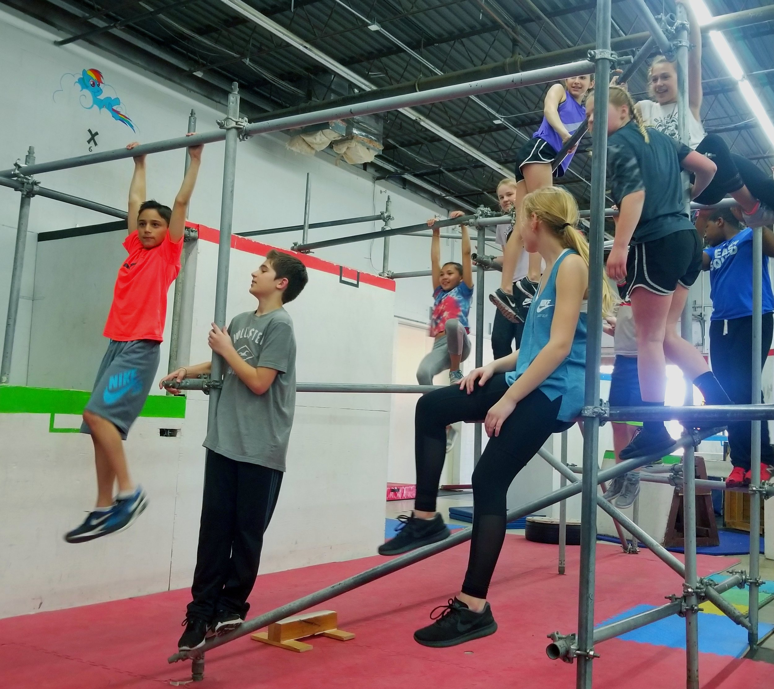 Junior Parkour Schedule - Monday | 5:30pWednesday | 6:30pThursday | 5:30pFriday | 5:30pSaturday | 10aSaturday | 3:30pSunday | 2p