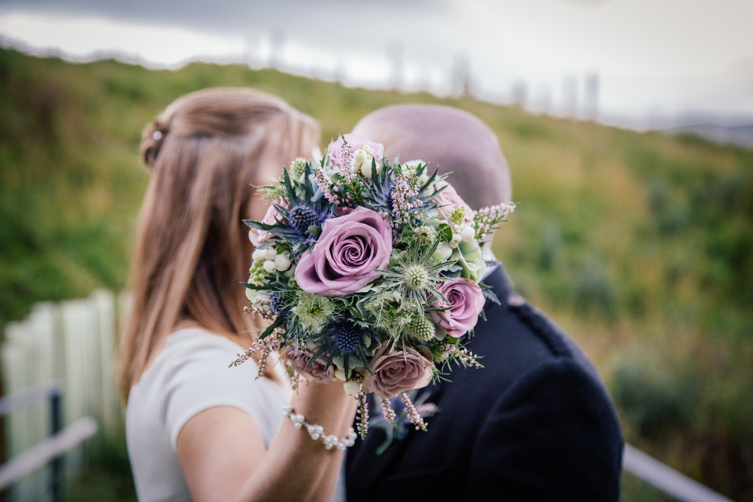 Our take on a Scottish themed bridal bouquet | EnaMay Photography.