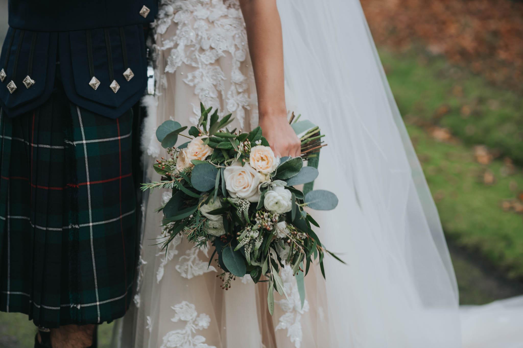 Soft whites, creams & foliage for this bride | Jen Owens Images.