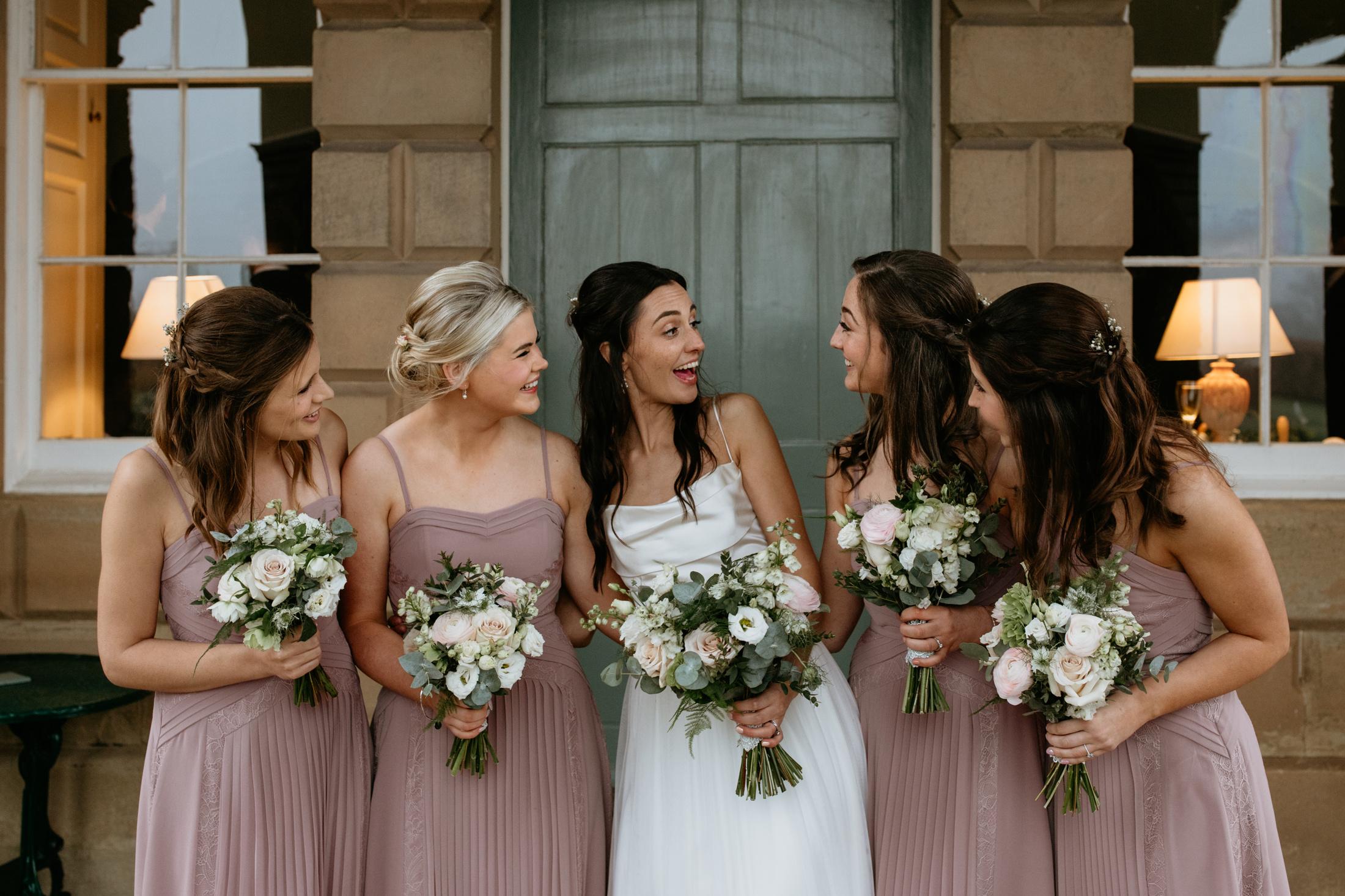 Brodie & her bridesmaids at Wedderburn Castle | Lianne Mackay Photography