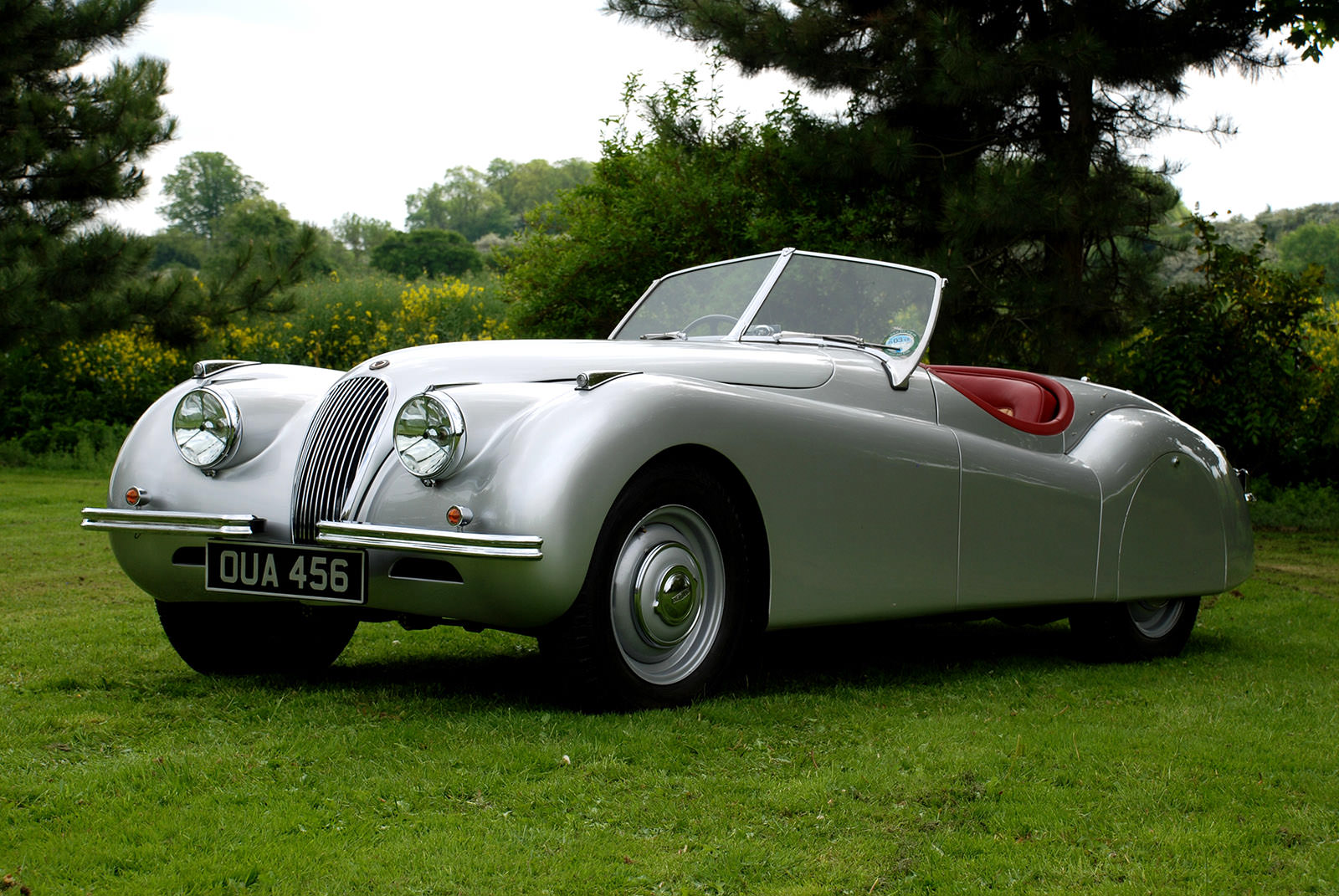 Jaguar XK120, OUA 456, 1953 Morecambe National Rally competitor