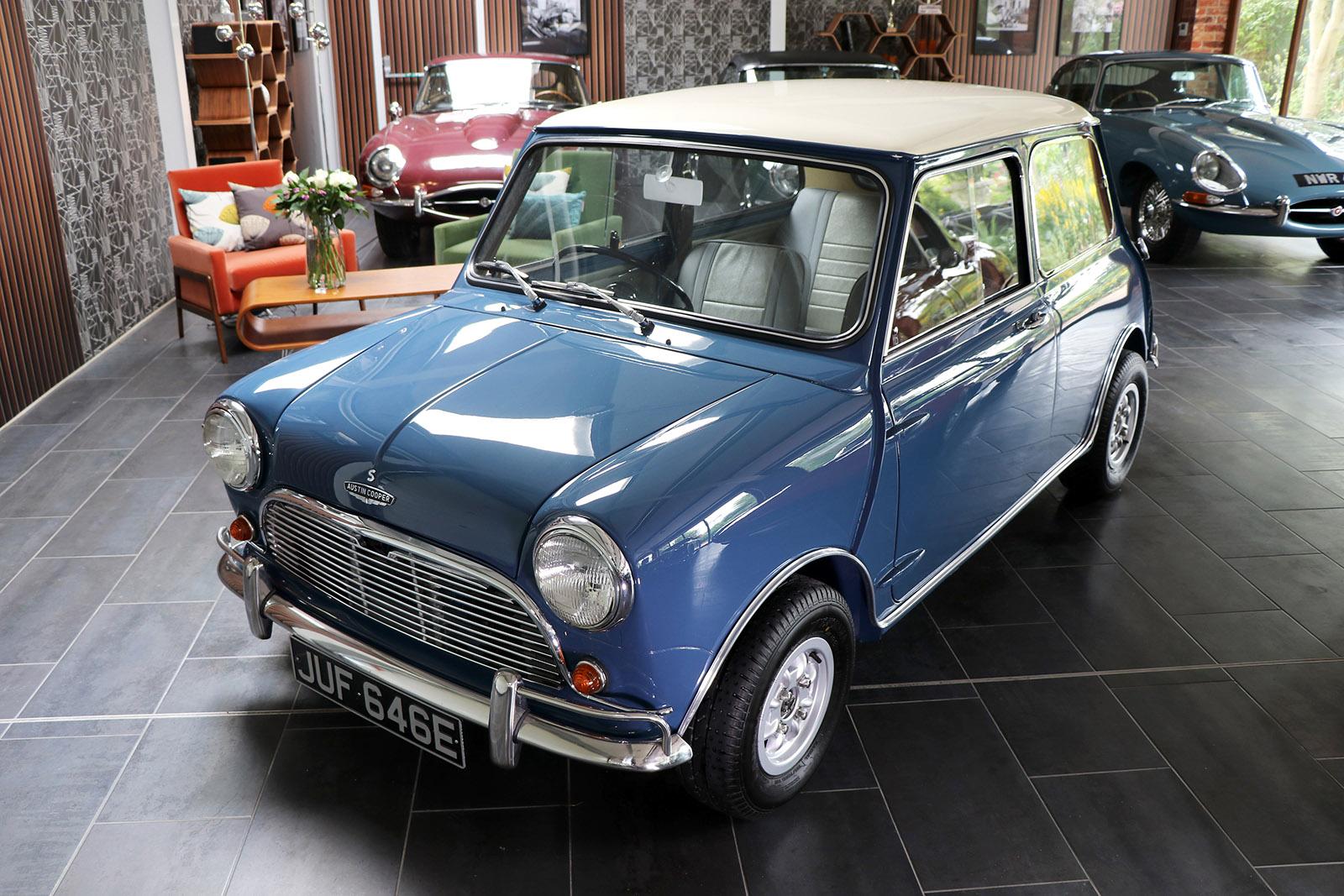 1967 blue 1275 Mini Cooper S Sayer Selection Wilkinson 1 web.jpg