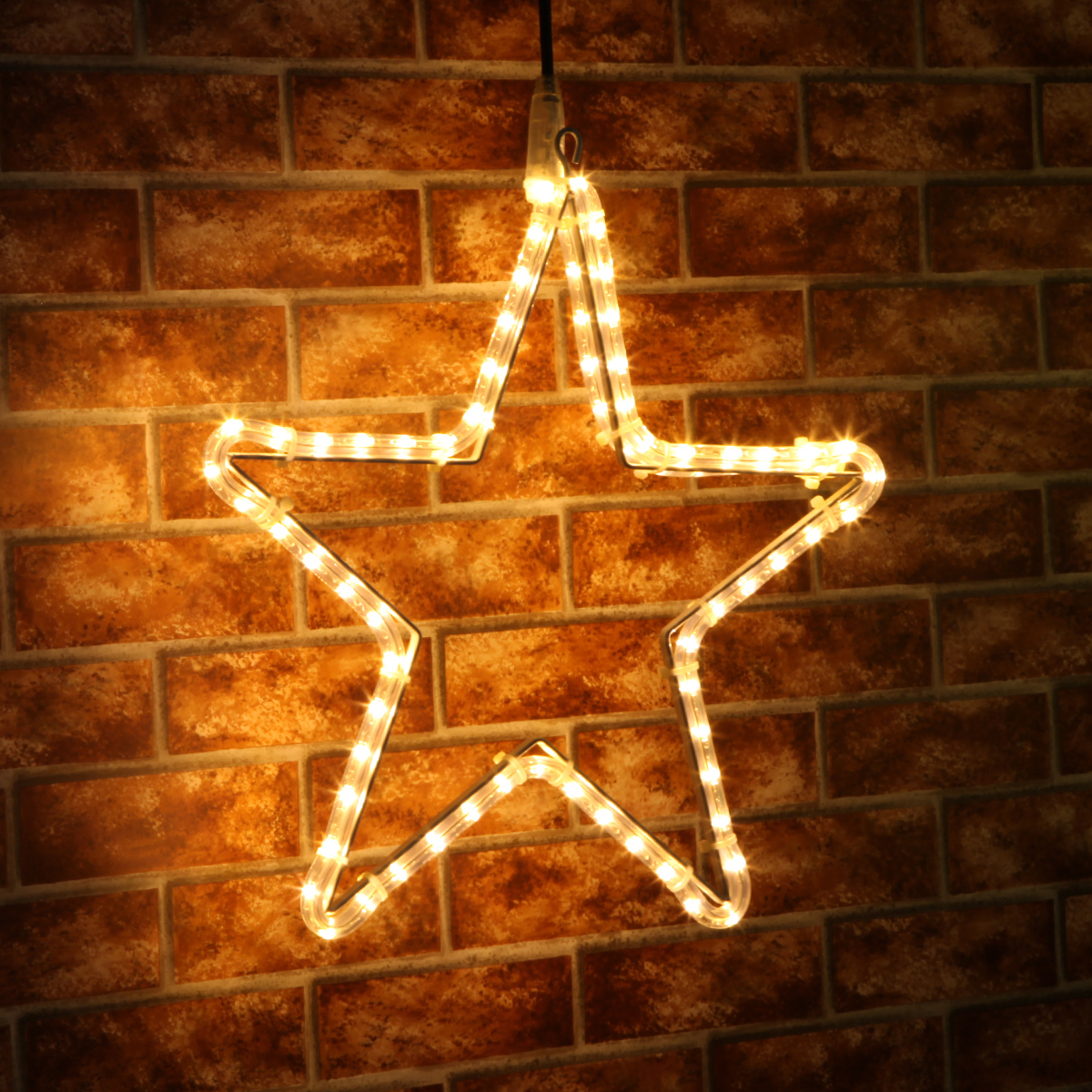 45cm Rope Light Star (warm white) - £24.99  45cm rope light star silhouette features ultra bright LED bulbs, available in white, warm white and blue.   www.festive-lights.com