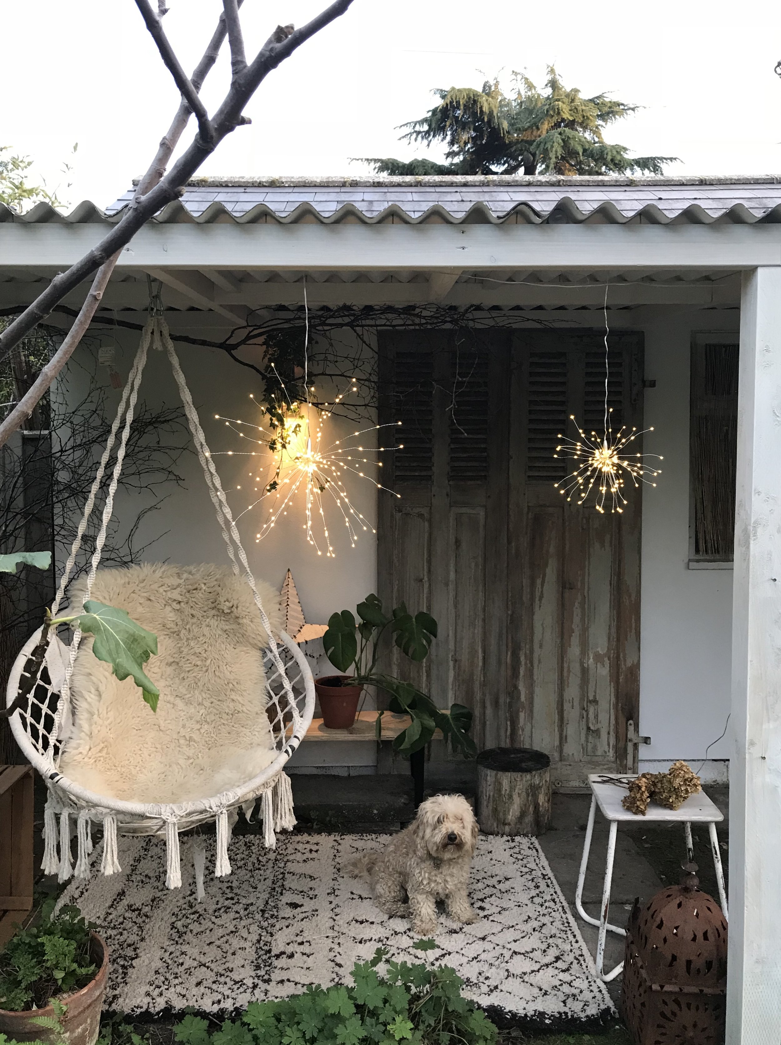 LED Starburst Lights in the beautiful outside room belonging to Dee Campling  @deecampling