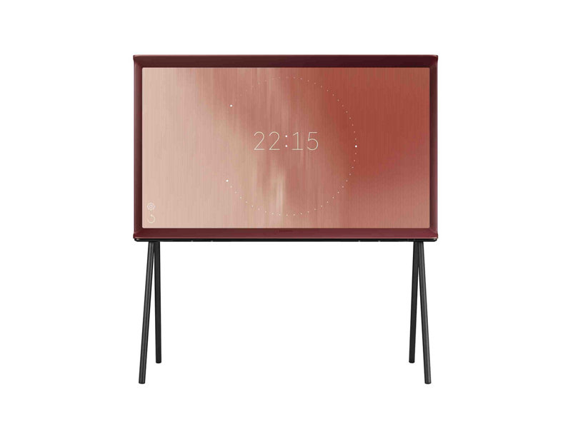 How cool is this red TV chosen by Lucy, designed by the Bouroullec brothers its described as 'moving away from the trend of ultra thin screens. Its presence is like an object; you can turn around and manipulate it. It can even stand on the floor when using the legs.'