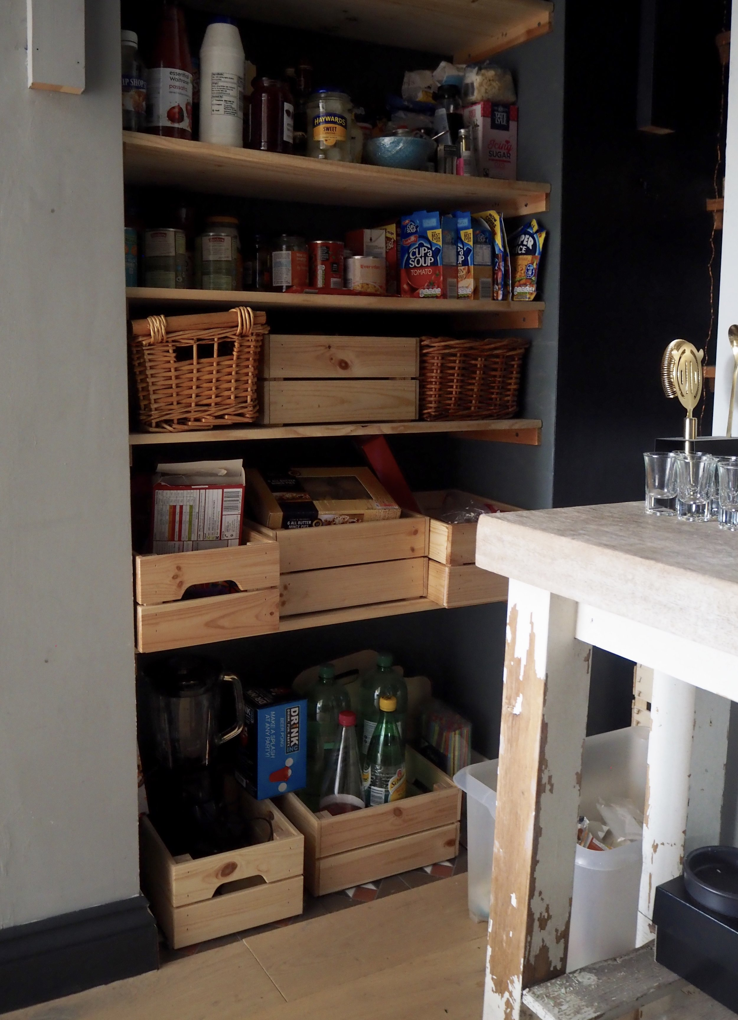 ahhhh 'Beer Pong' a larder cupboard essential it would seem......