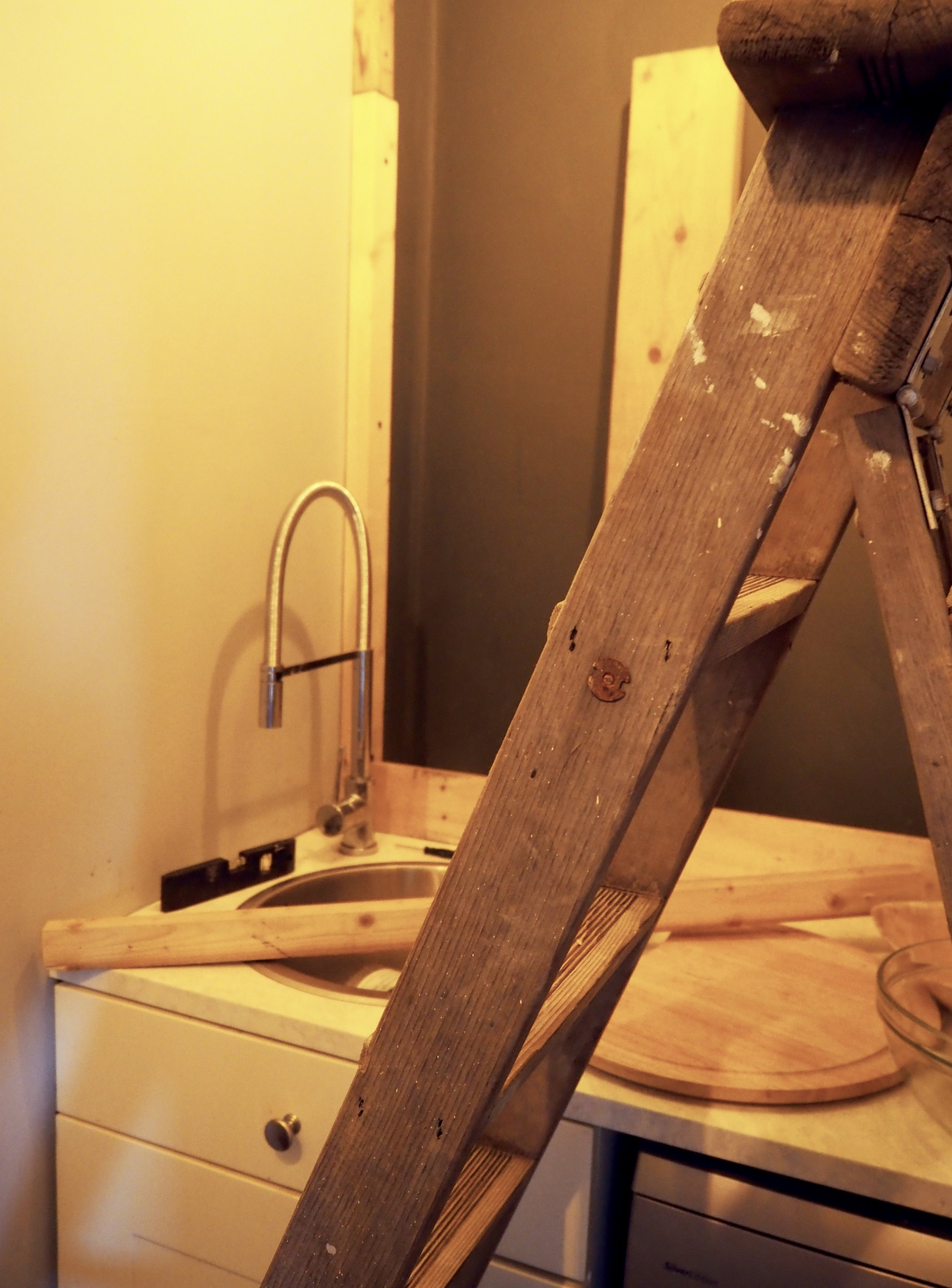 The trusty stepladder that has seen us through 15 years worth of DIY........