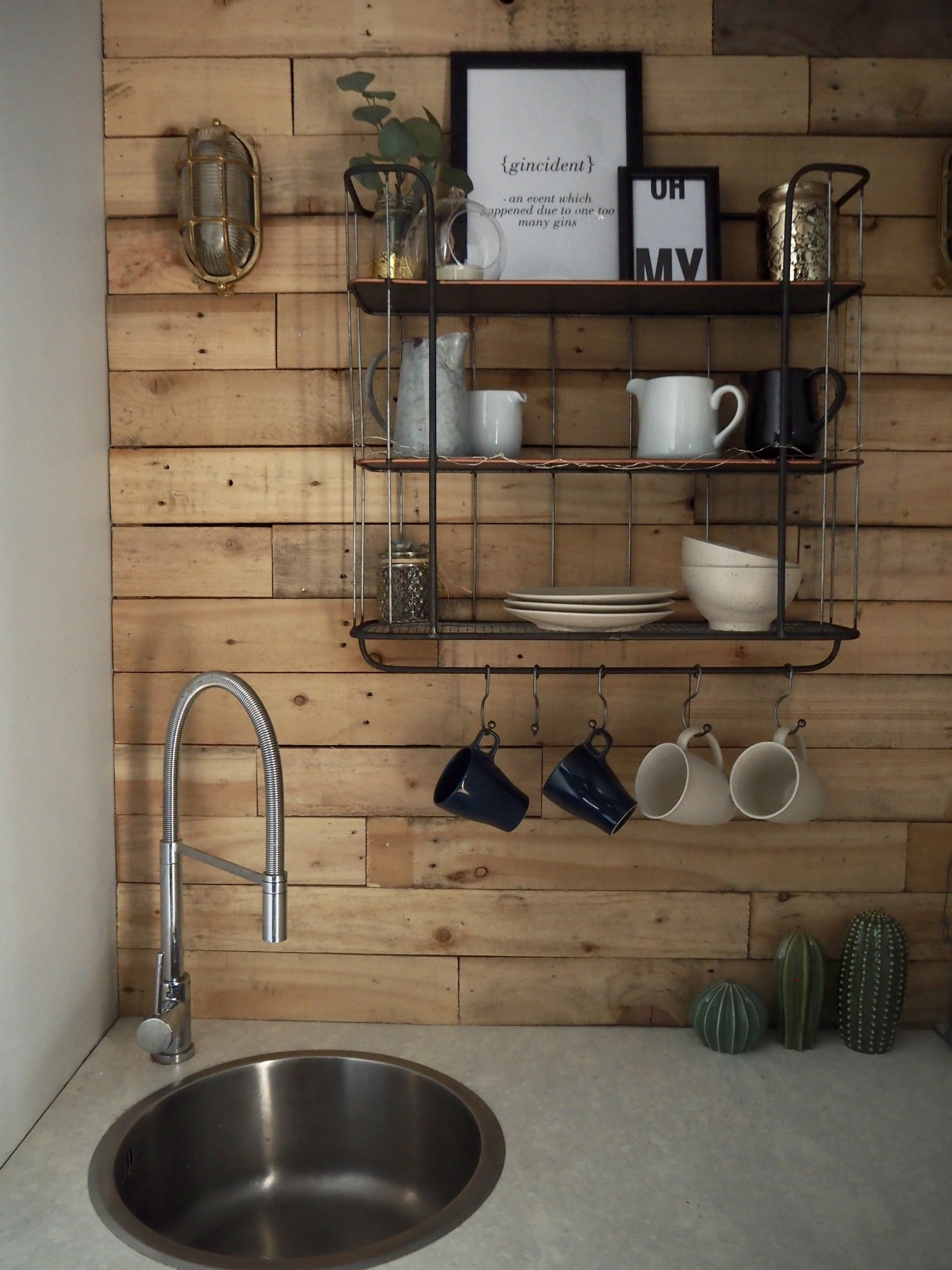 Industrial Shelf With hooks- Large £75   www.coxandcox.co.uk