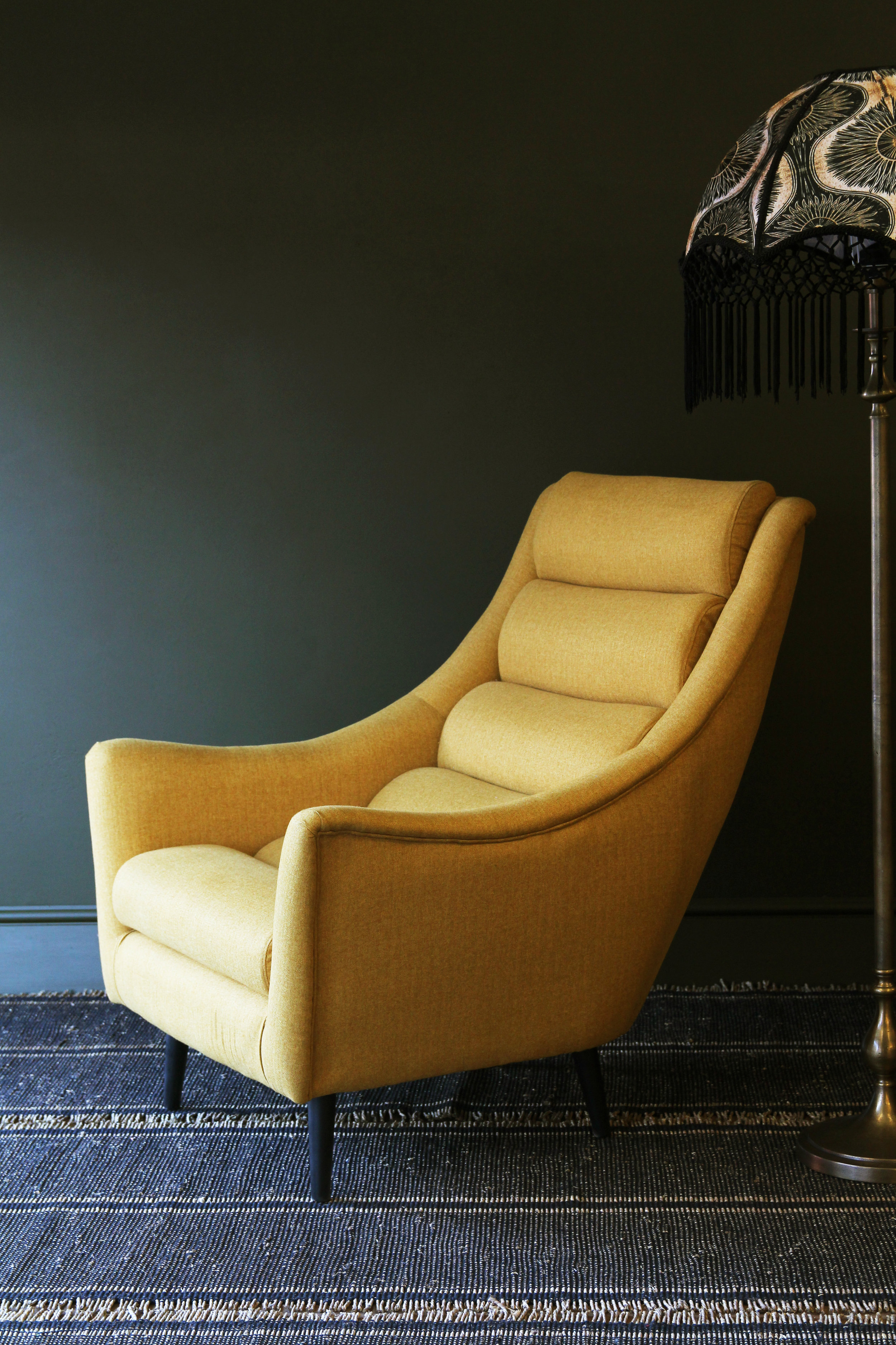 Jive Herringbone Tweed Armchair - Mustard £695    www.rockettstgeorge.co.uk