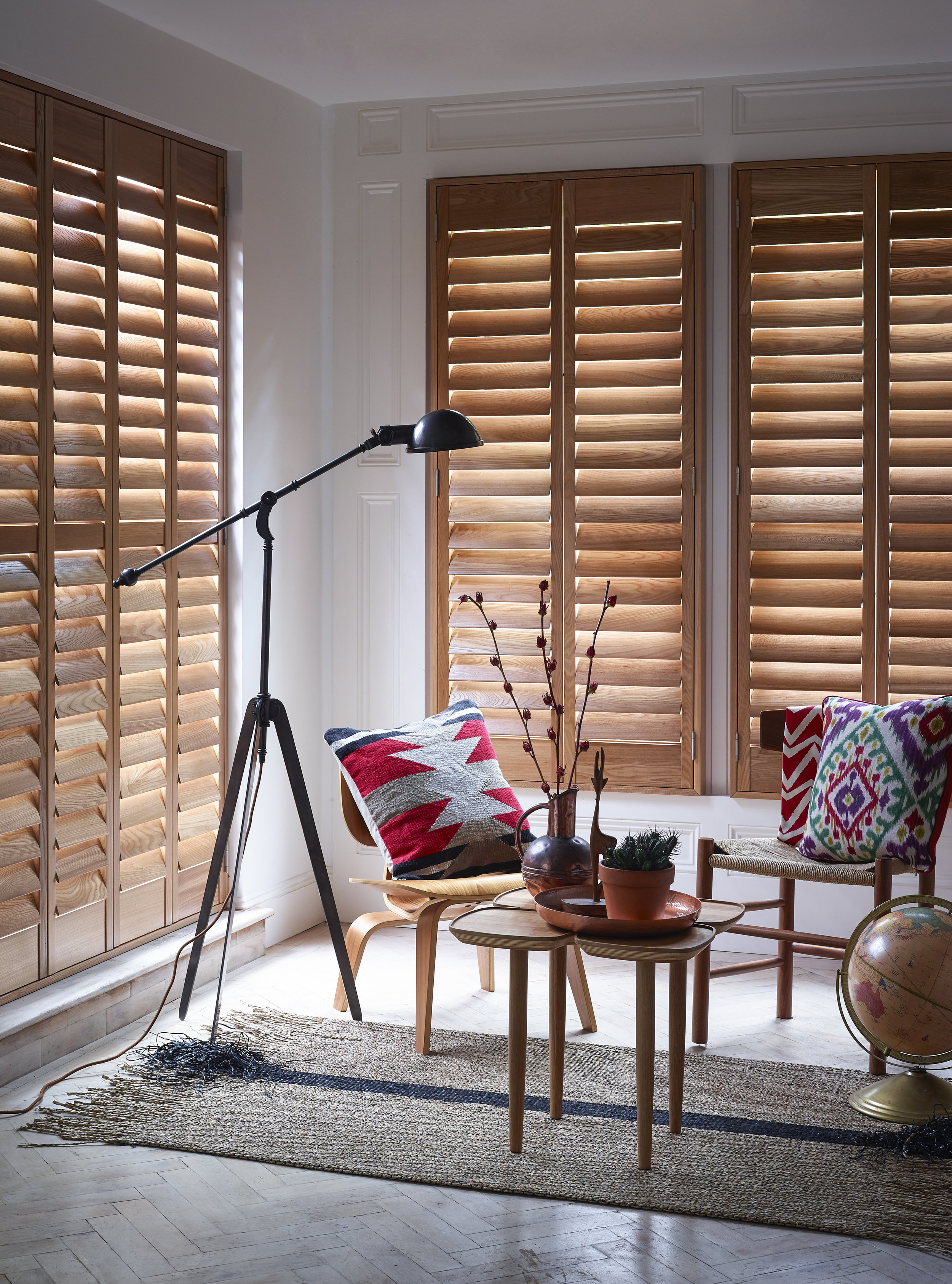 Full Height Shutters-   This popular shutter style can be made to your interior style with 6 separate slat sizes available for a classic or contemporary look.