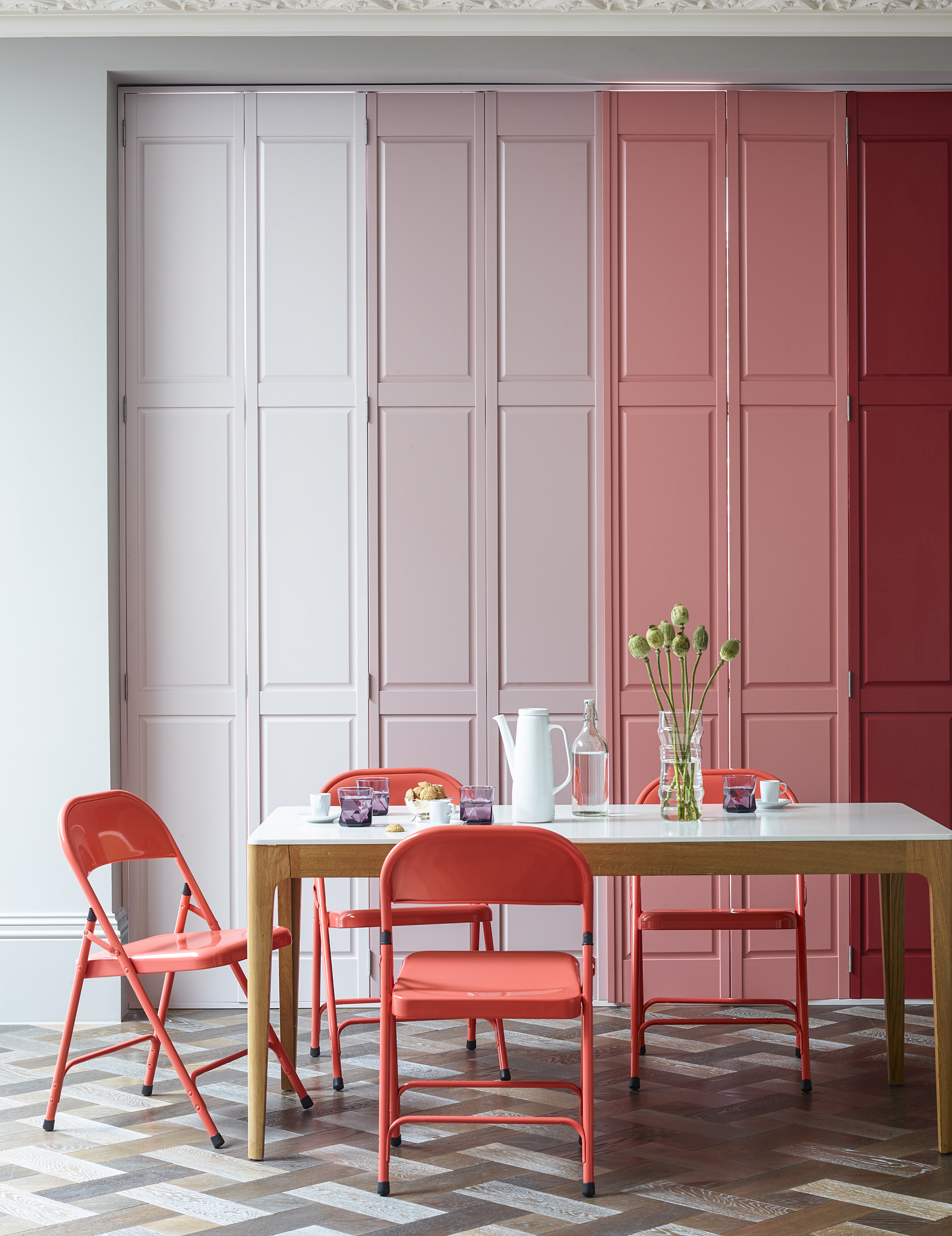 Solid Panel Wood Shutters-   Solid panel shutters have a traditional look to them, these types of shutters were used in victorian homes and can add that character back if you live in a period property as well as looking great in a contemporary setting.   They are also perfect for kids bedrooms as they block out all the light.