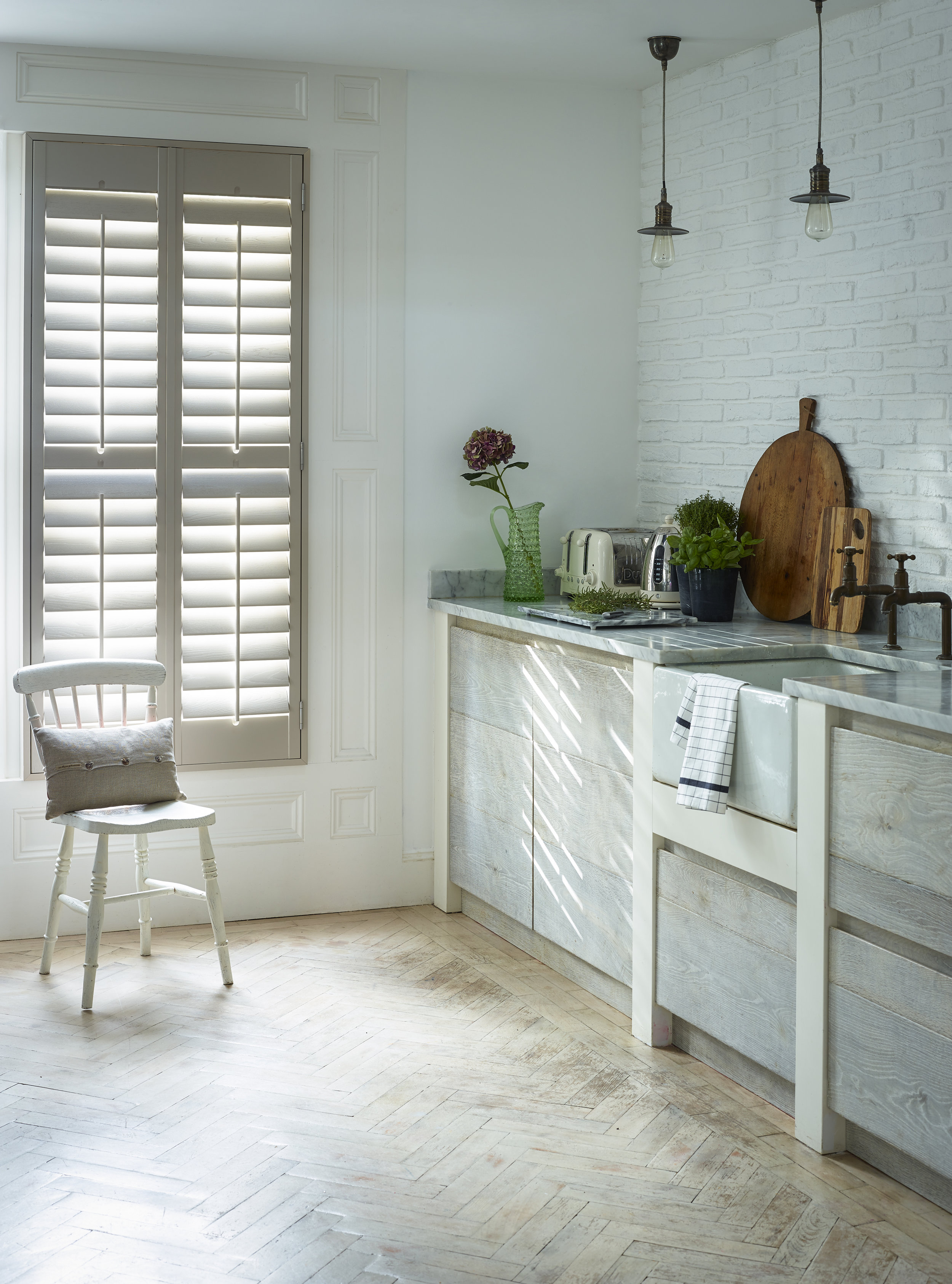 Plantation Window Shutters -  Different louvre sizes bring different benefits to different rooms. Smaller slats reduce light levels; larger ones permit more privacy for large or overlooked windows.