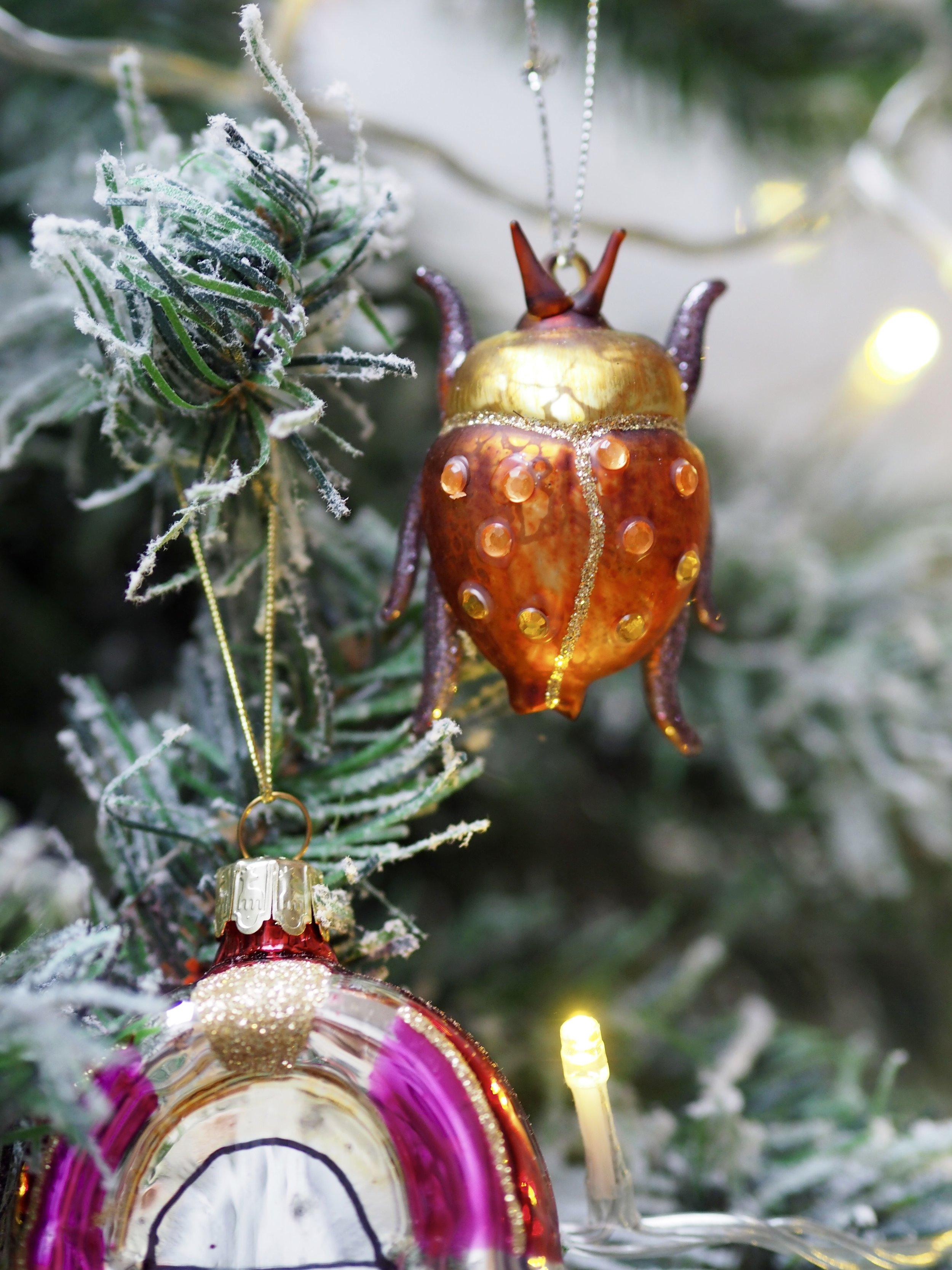 .    Bejazzled Ladybird Beetle Hanging Decoration