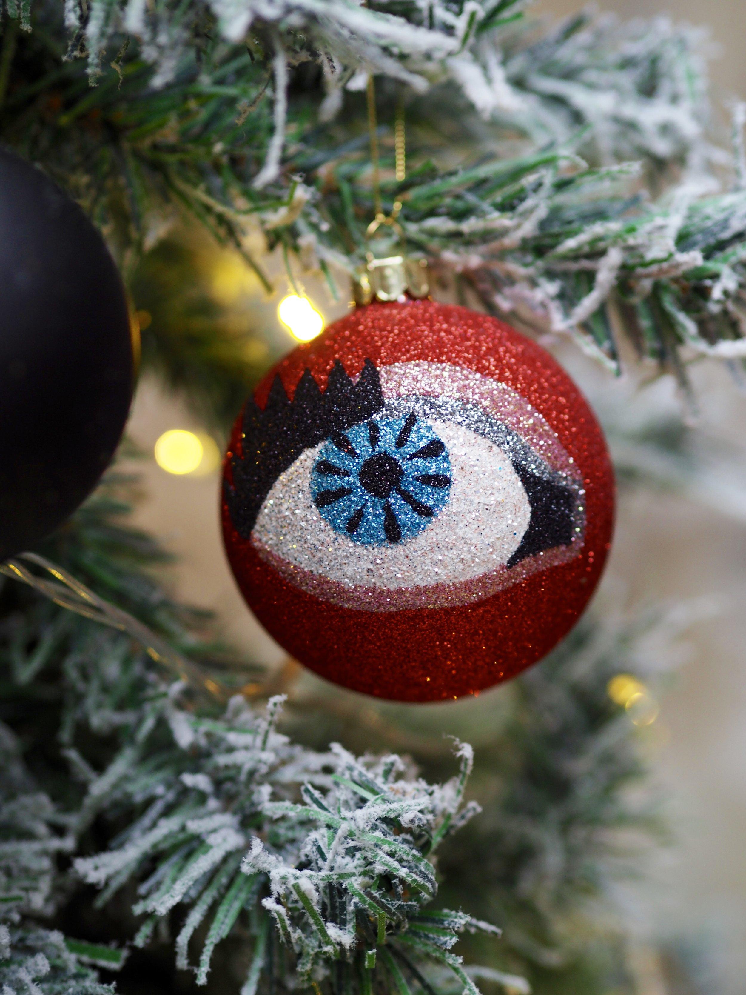 Glitter Eye Bauble Hanging Decoration