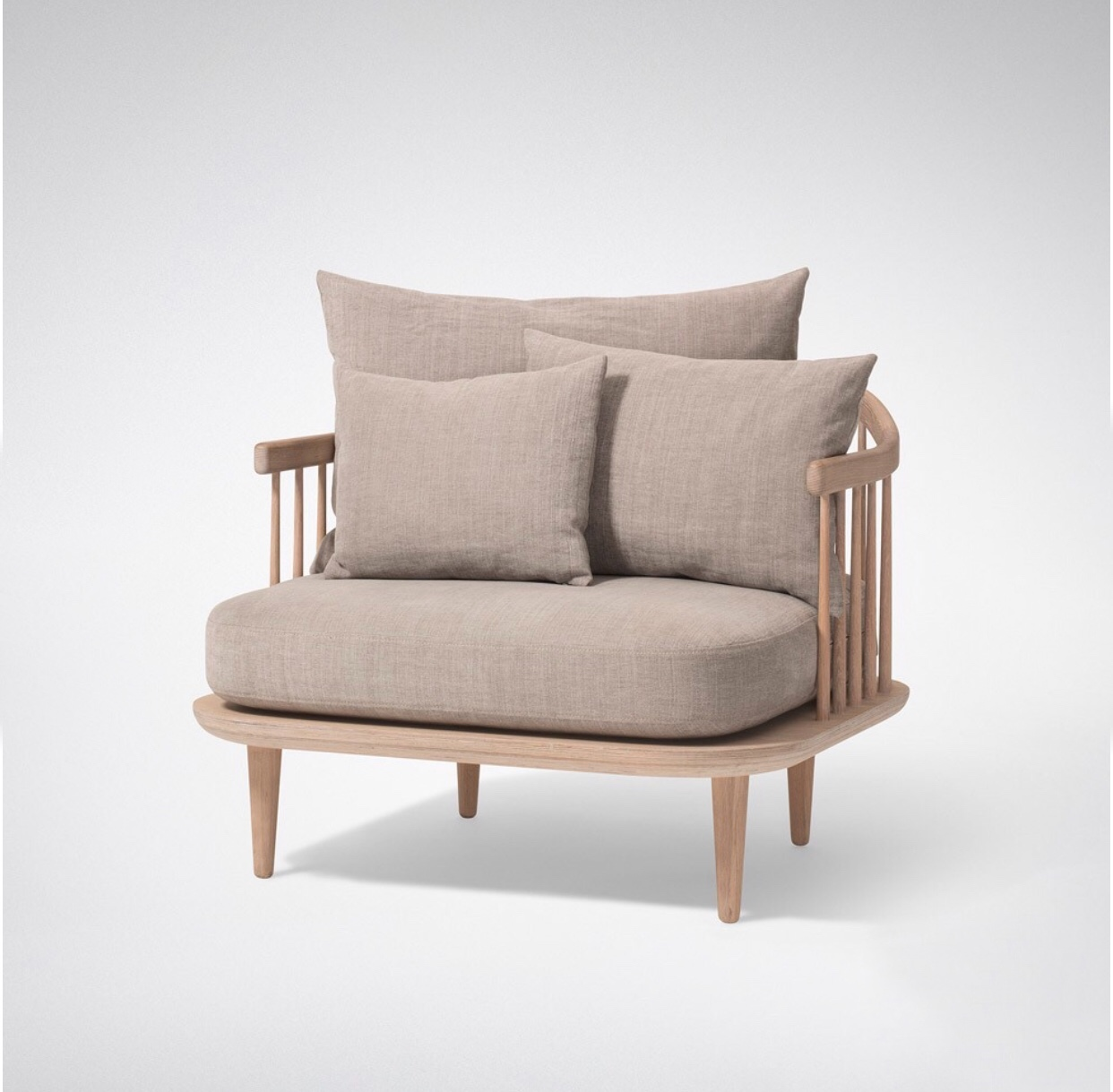 & Tradition FLY Chair SC1 White Oiled Oak  -  Hsuseology £2,140