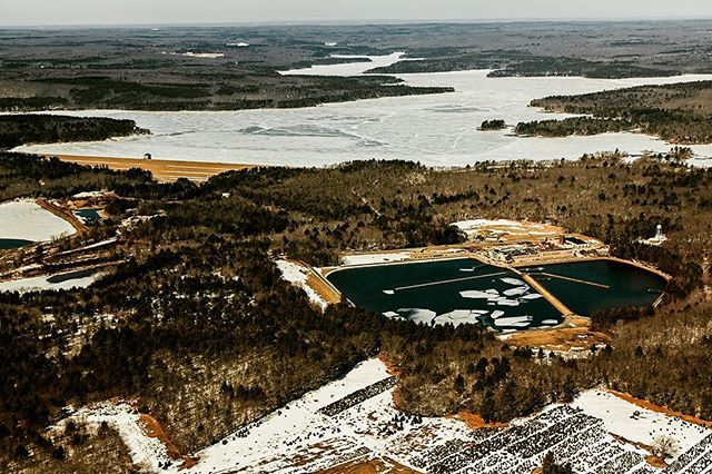 On April 26, 1915 the Providence Water Supply Board elected B. Thomas Potter as their first Chairman.  This aerial image shows the byproduct of the Board's influence, including the acquisition of 14,800 acres of land, by way of eminent domain.  These properties include five thriving early 20th Century mill villages.  The residents and business owners of Ashland, Kent, Richmond, Rockland and North Scituate stood in the way of providing the City of Providence with the clean water the Board was responsible for allocating and providing.