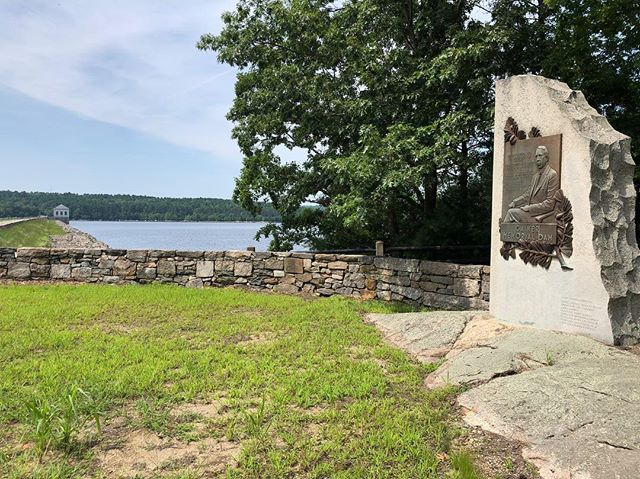 The Gainer Dam contains (up to) 39.7 billion gallons of carefully guarded water, within the Scituate Reservoir.  This earthen structure was memorialized in honor of the former seven-term Mayor of Providence, Joseph H. Gainer.  Mayor Gainer will forever be remembered as the leader who brought clean water to the city.  He was also one of the seven original members of the Providence Water Supply Board, while serving as mayor.