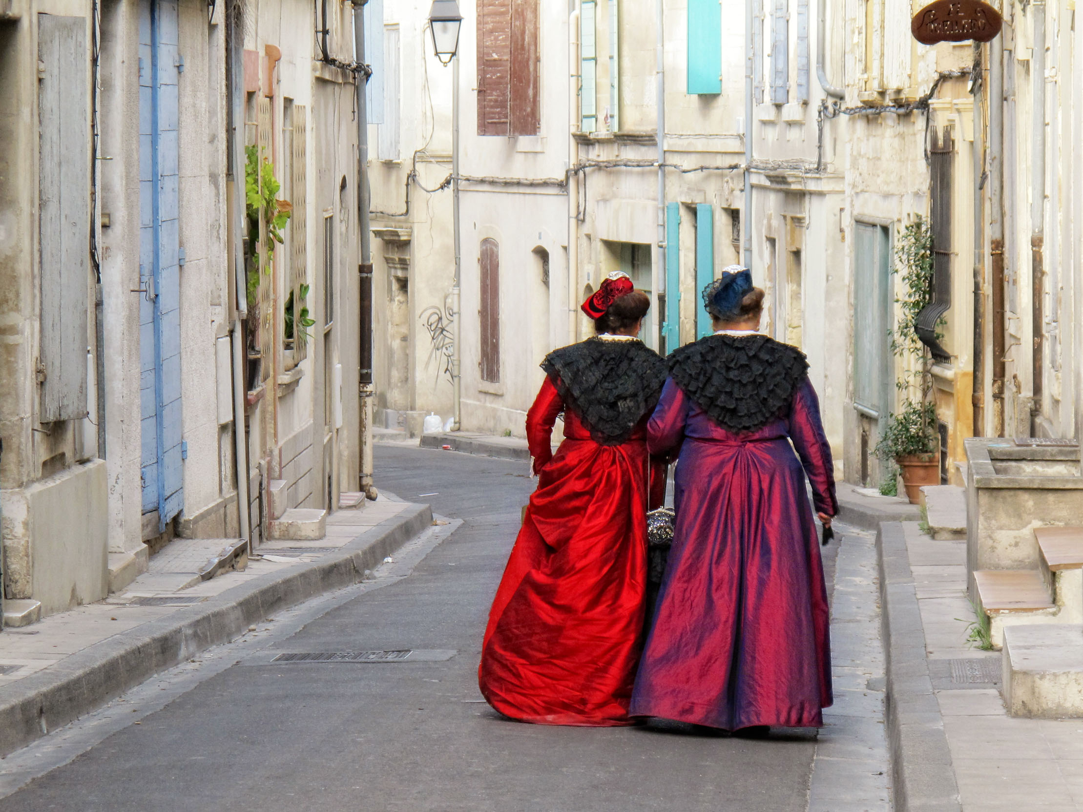 Going home after the festivities - Arles, France