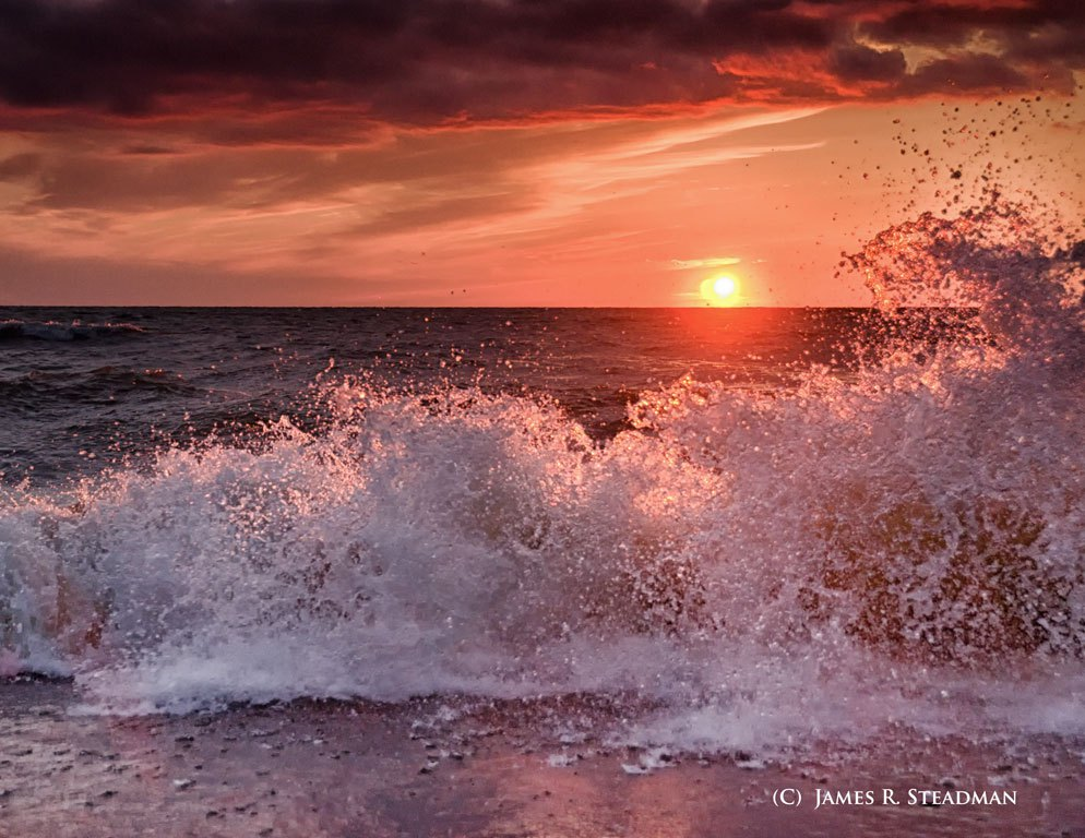 wave-at-sunset