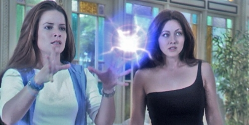 """Witches Piper and Prue from the TV series """"Charmed"""""""