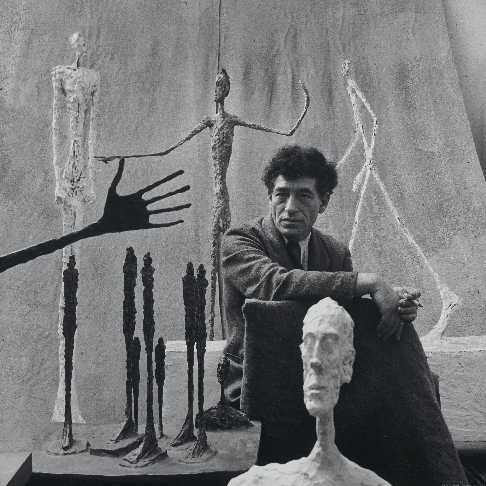 Alberto Giacometti, 1951 Photograph by Gordon Parks Fondation Giacometti, Paris © The Gordon Parks Foundation