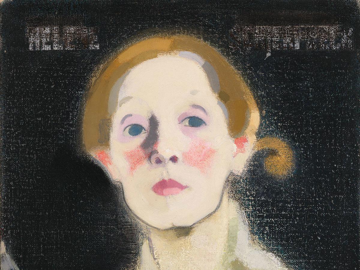Self-Portrait, Black Background (detail), 1915.