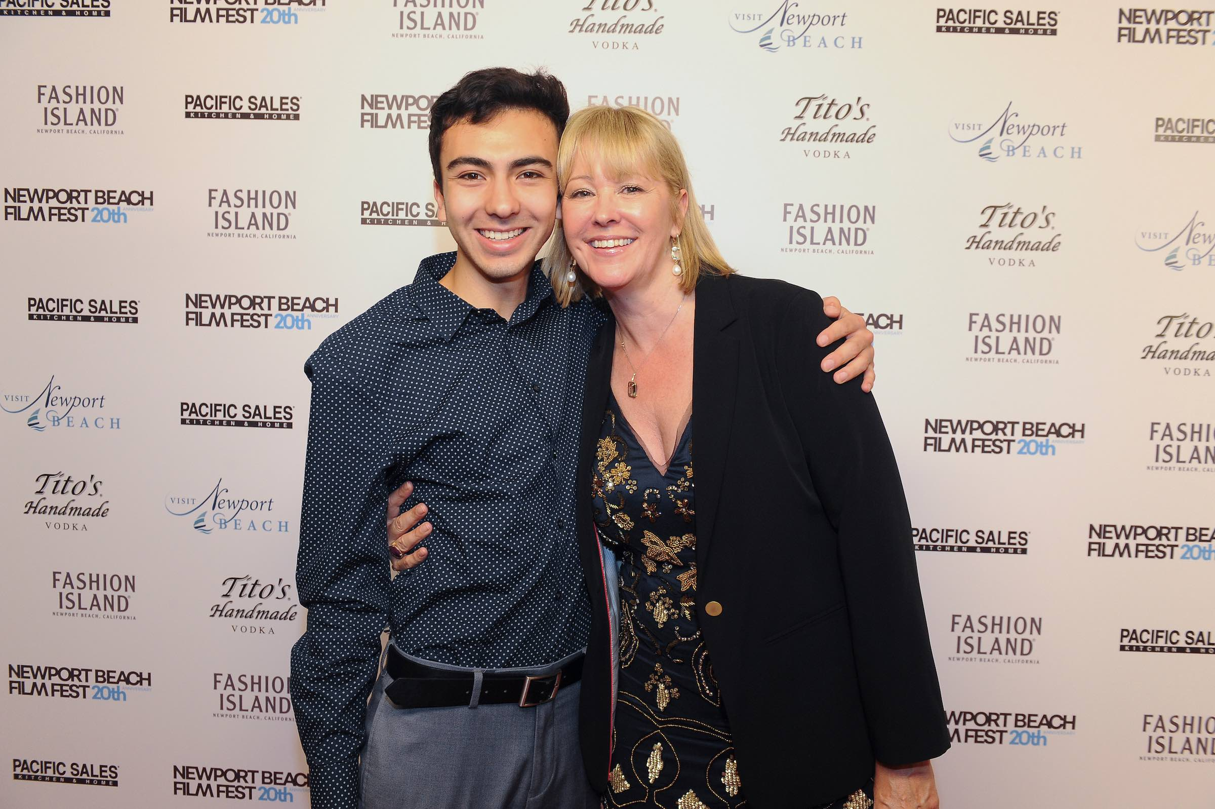 Editor, Felipe Vargas and Director/Producer/Writer Kerry David at the World Premiere