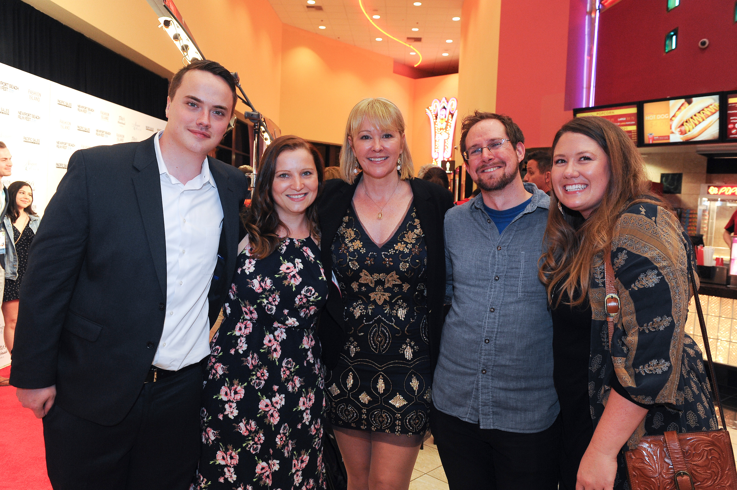 David Aaron Waters and David Weitzel bring their lovely significant others to represent Technicolor at world premiere with Director, Kerry David