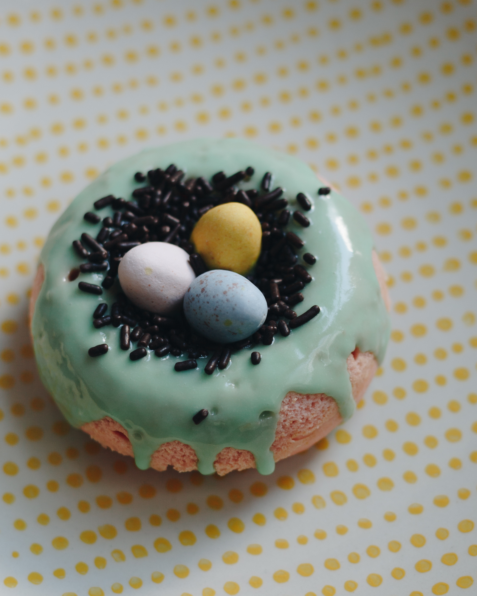 Vanilla Easter Mini Eggs Donut