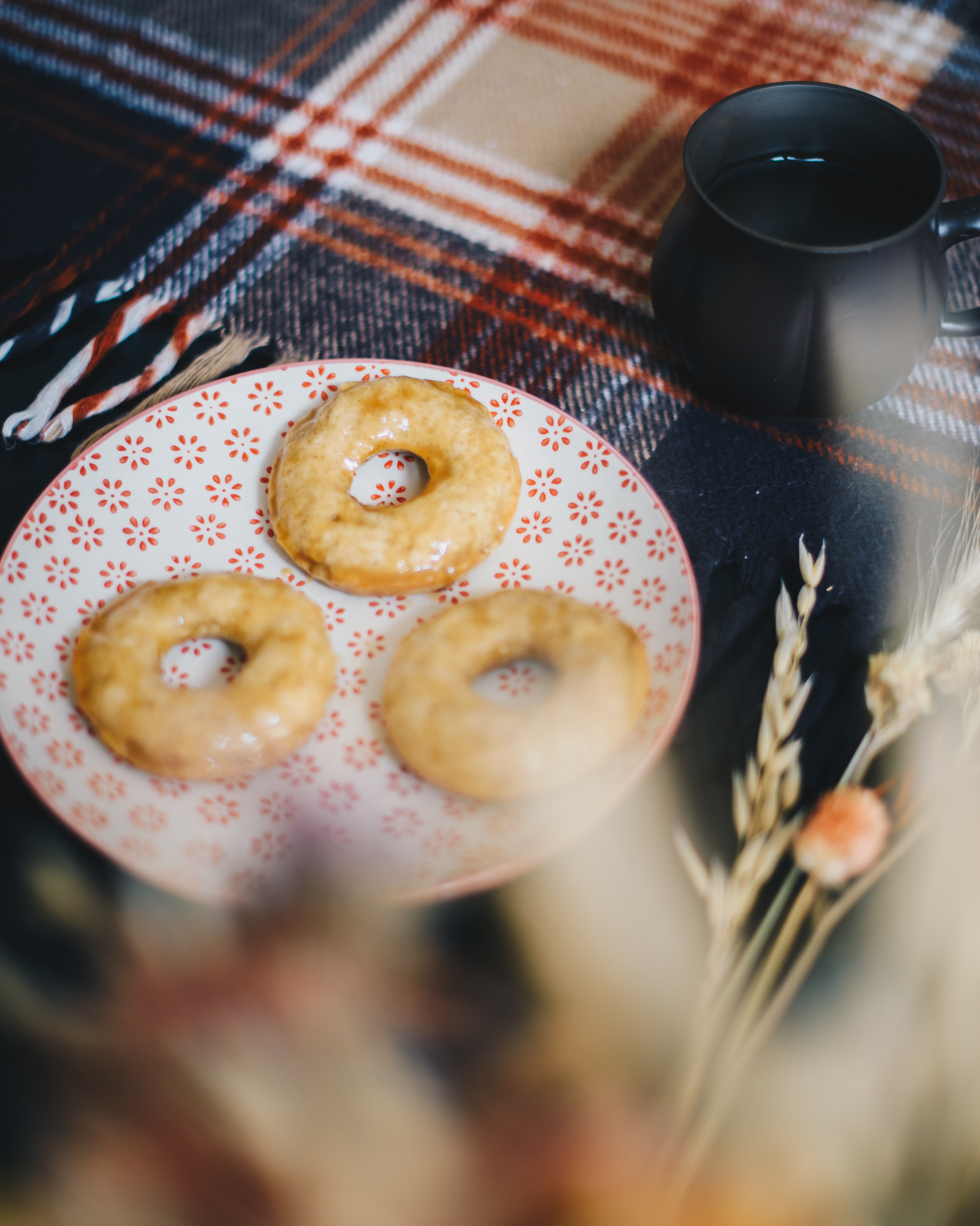 Apple Donuts with Maple Caramel Glaze Recipe