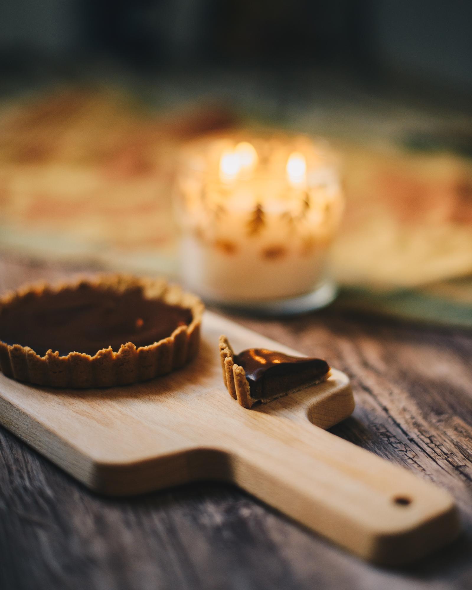 Chocolate Pumpkin Tarts Recipe