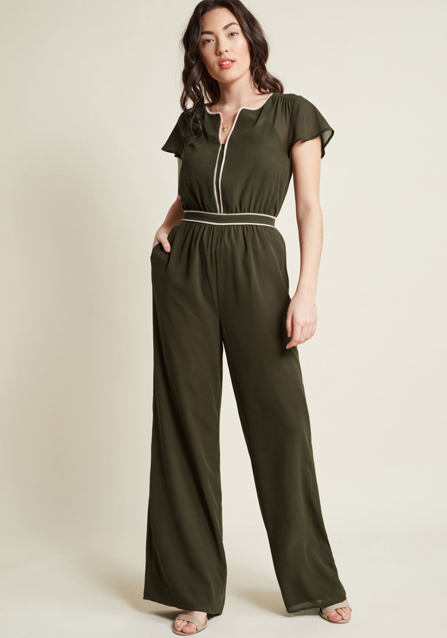 Modcloth Intrigue Mastery Wide-Leg Jumpsuit     – $31.97