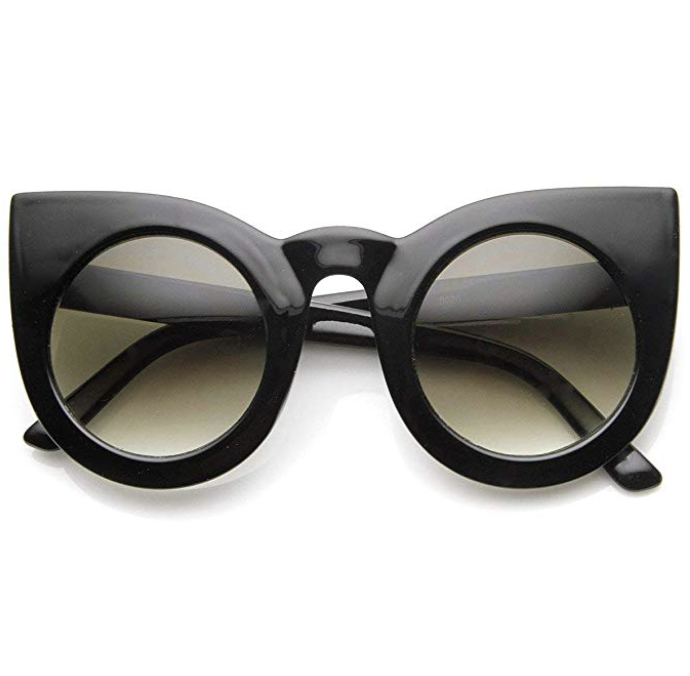Womens Large Oversized Retro Vintage Cat Eye Sunglasses     – $9.99