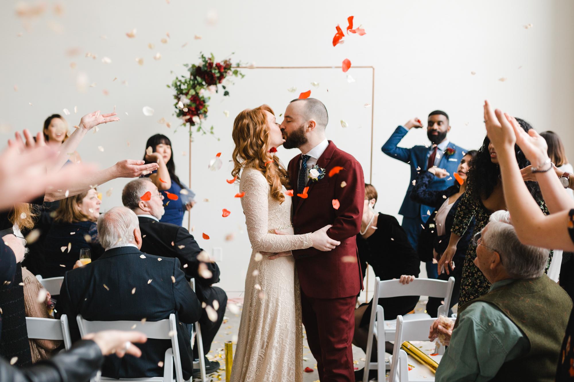 Wedding petal throw