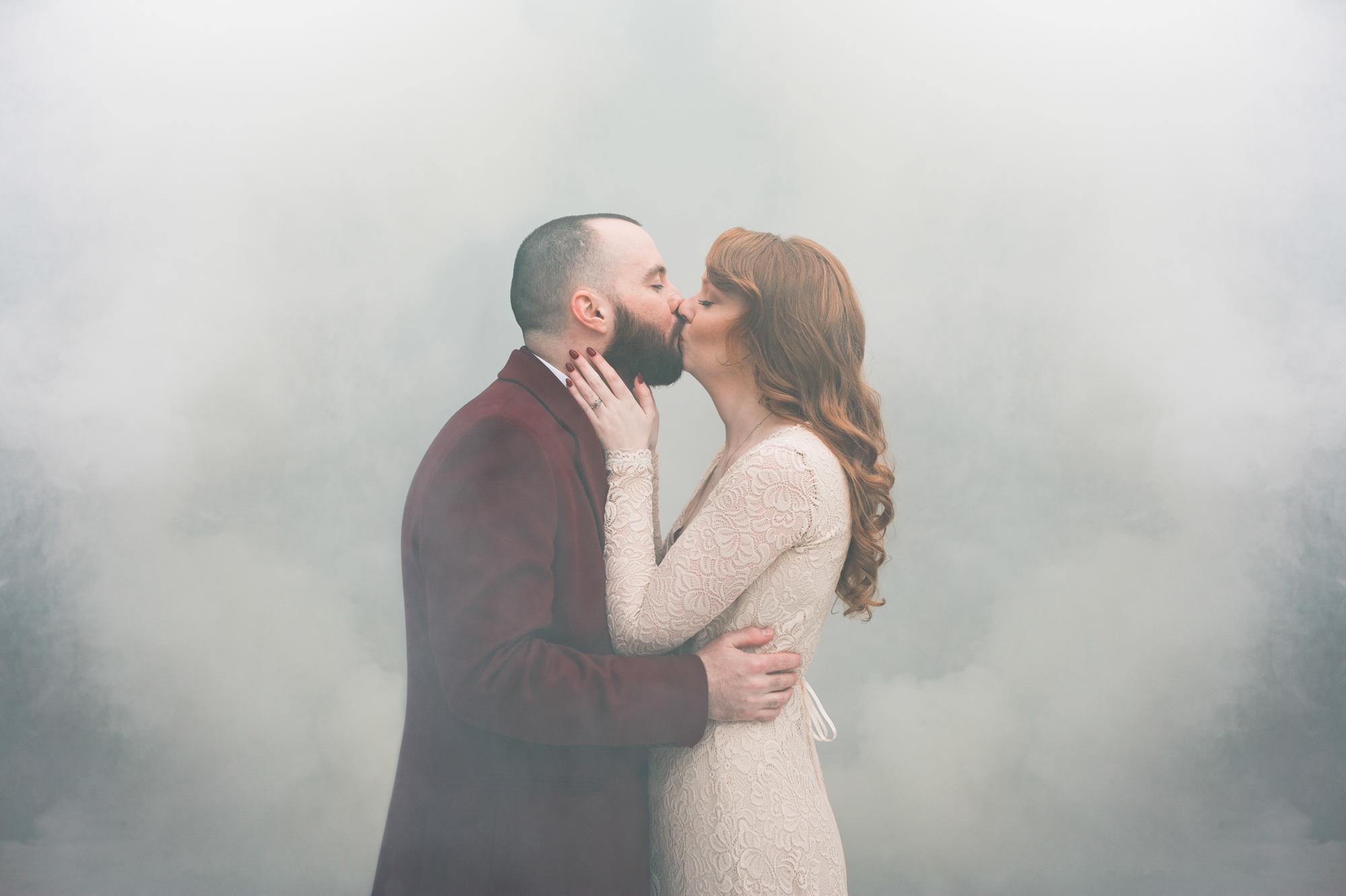Smoke bomb wedding photos Toronto